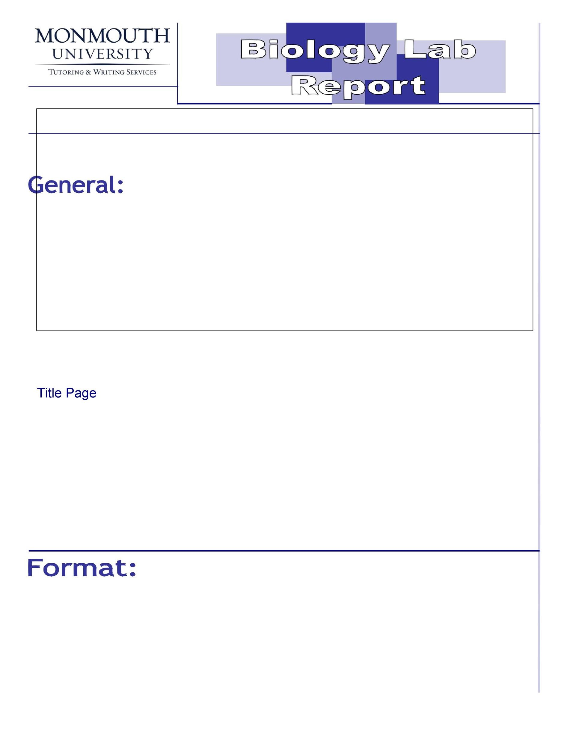 Free lab report template 16