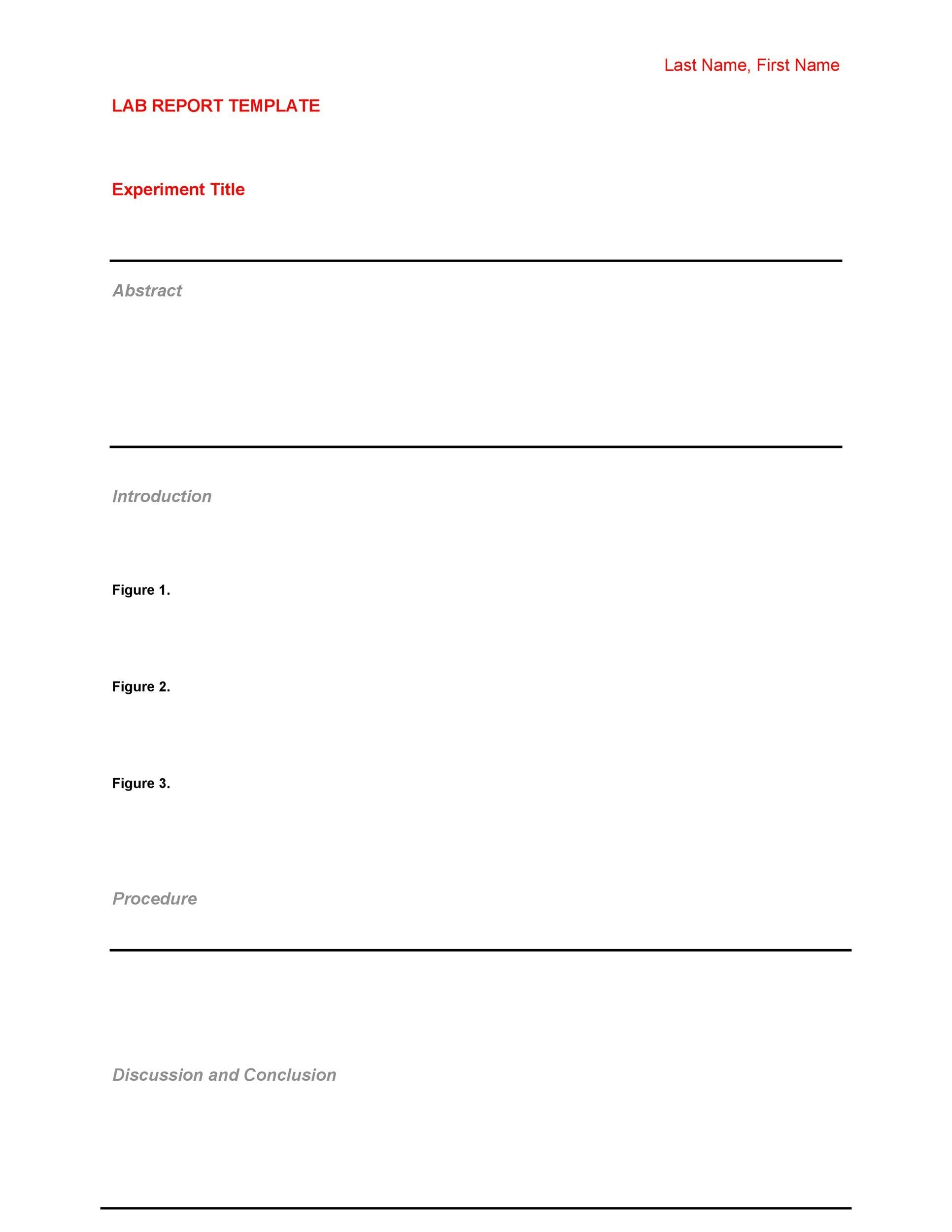 Free lab report template 21