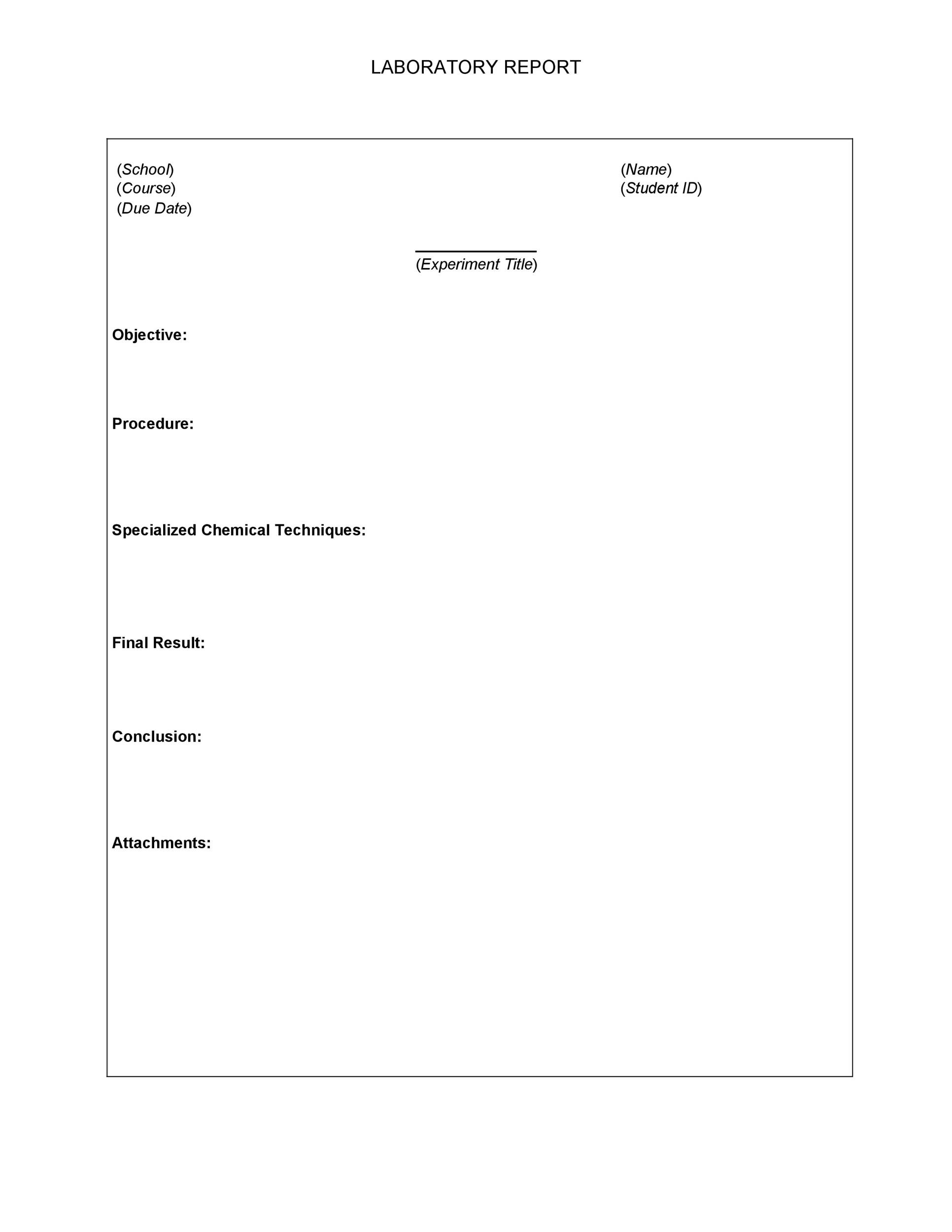 Free lab report template 24