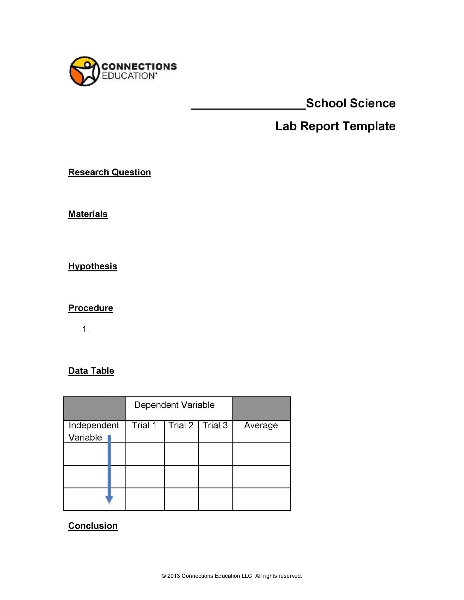 Free lab report template 31