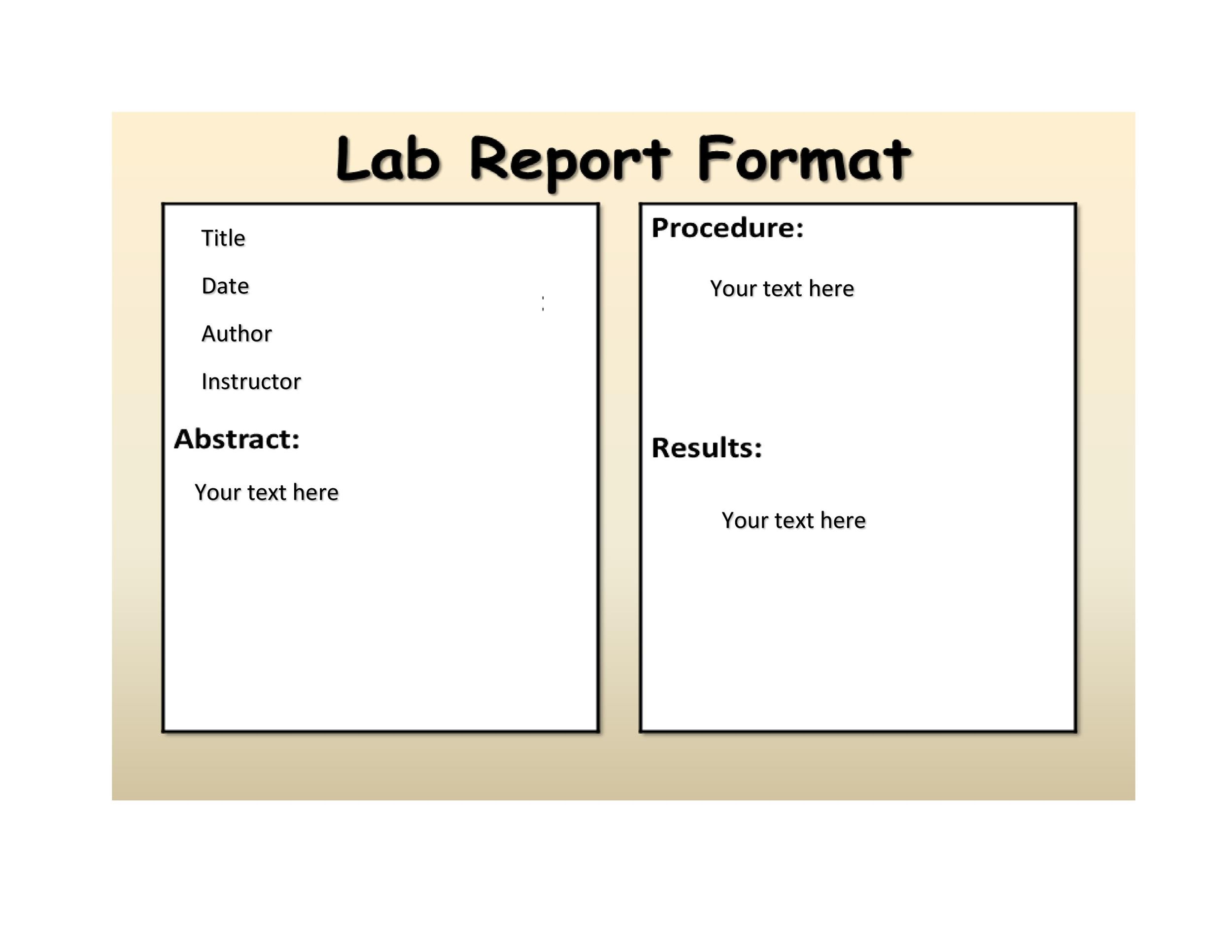Free lab report template 36