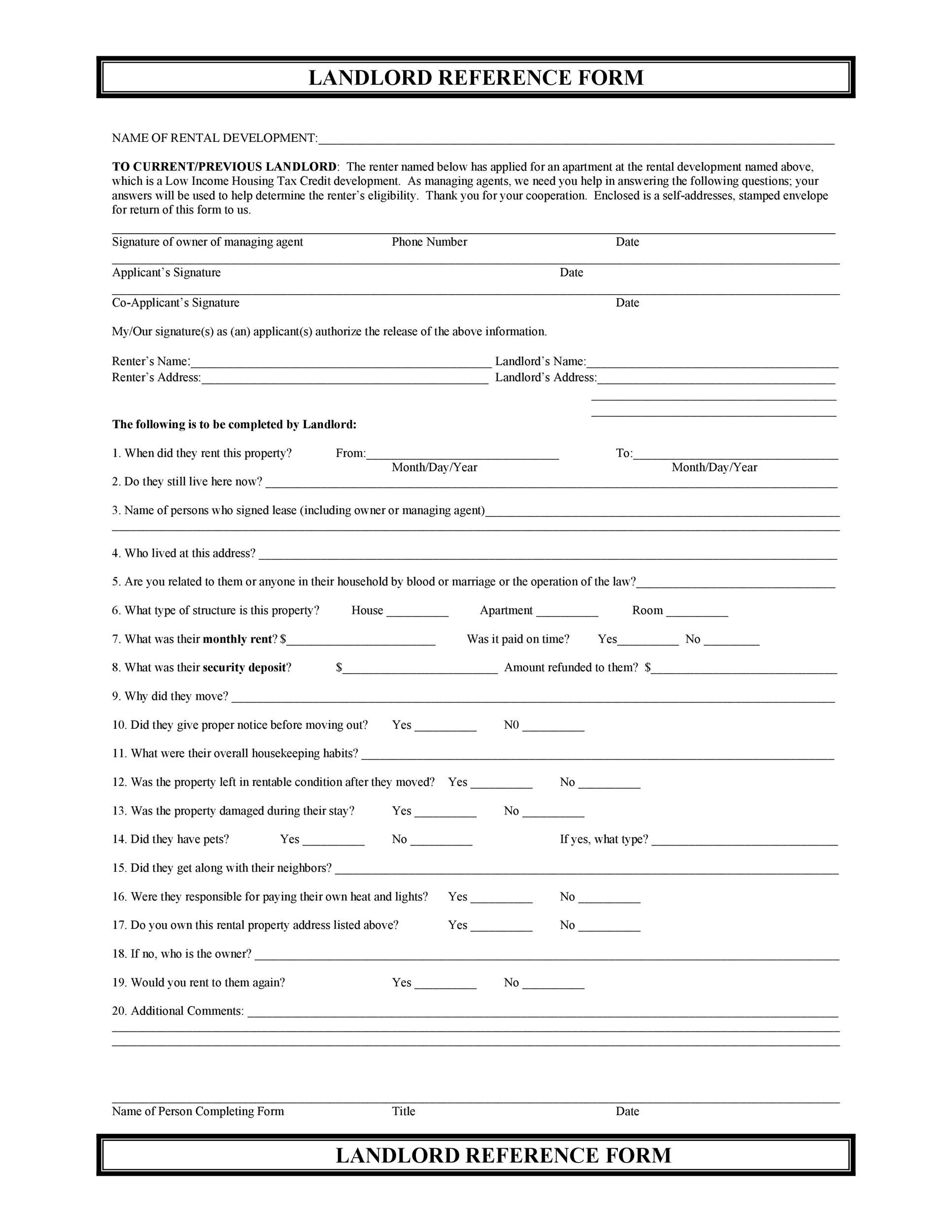 Free landlord reference letter 05