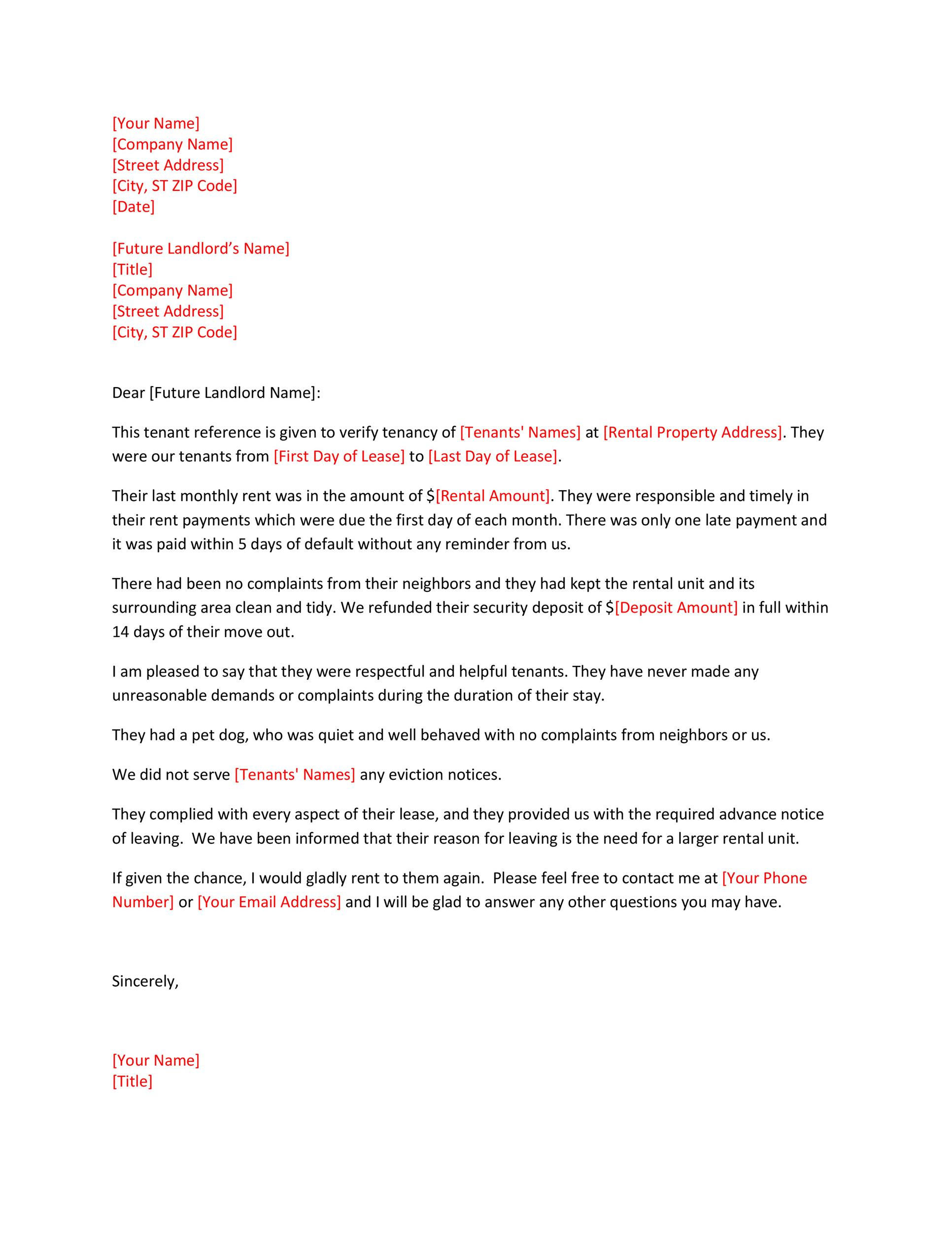 Free landlord reference letter 06
