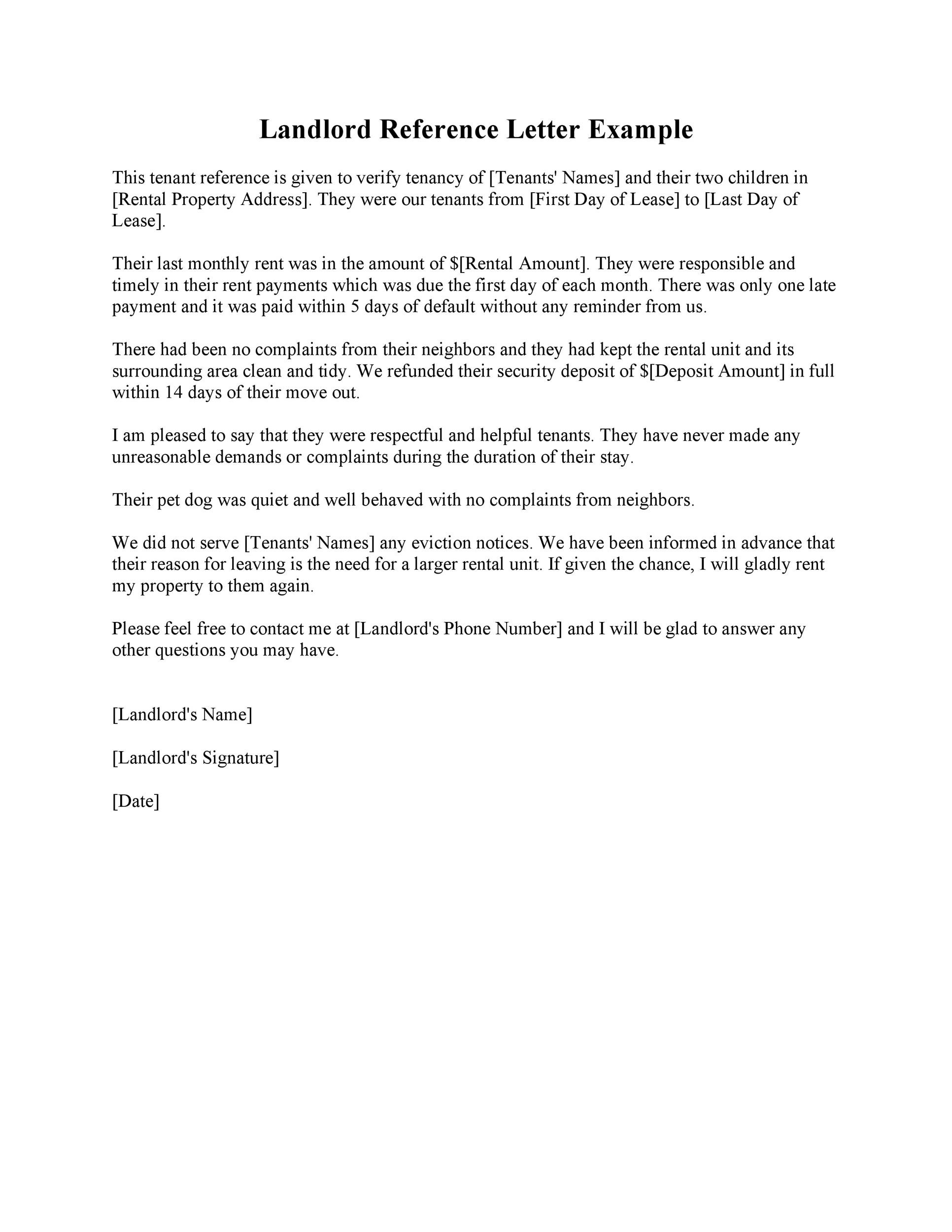 Free landlord reference letter 09
