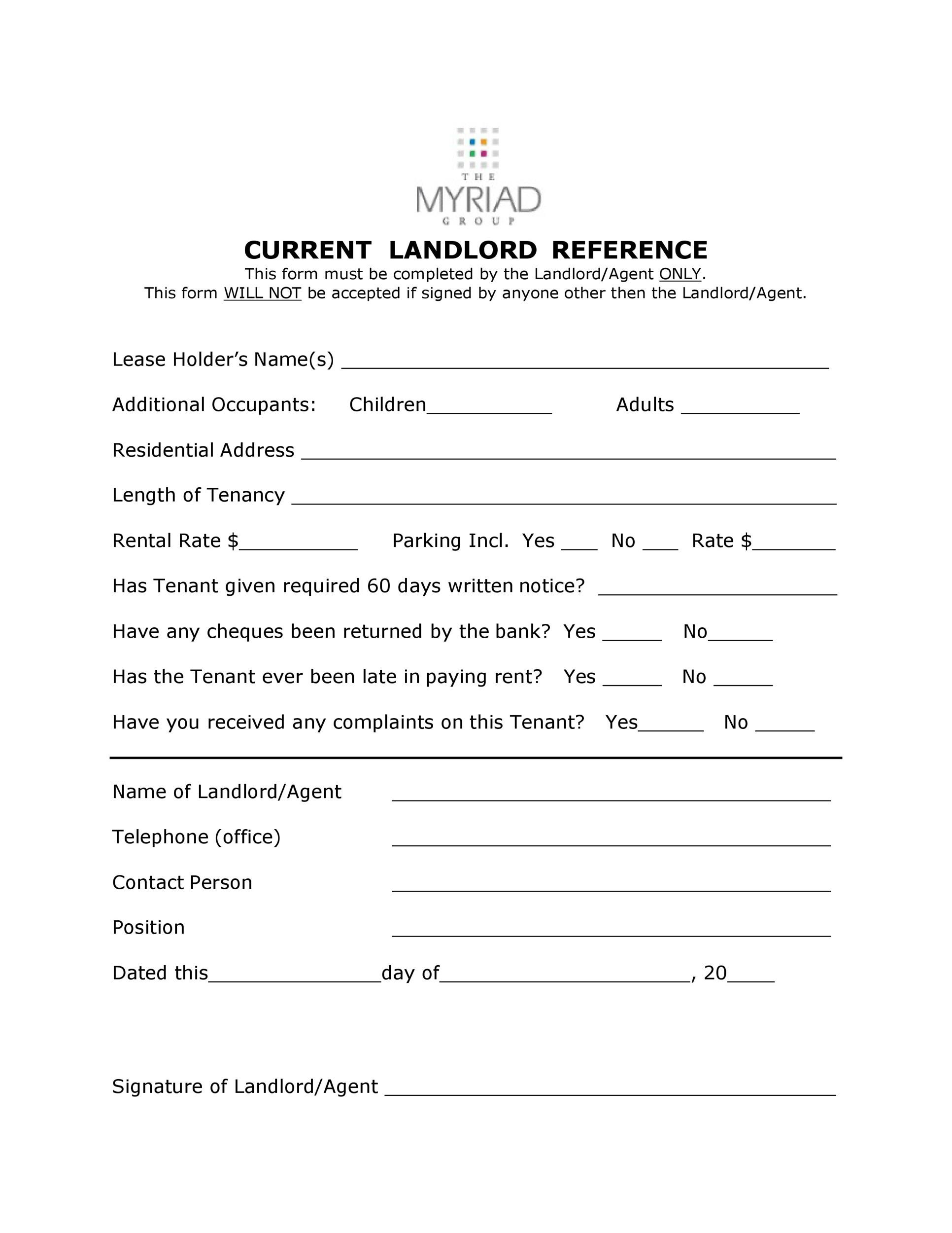 Free landlord reference letter 12