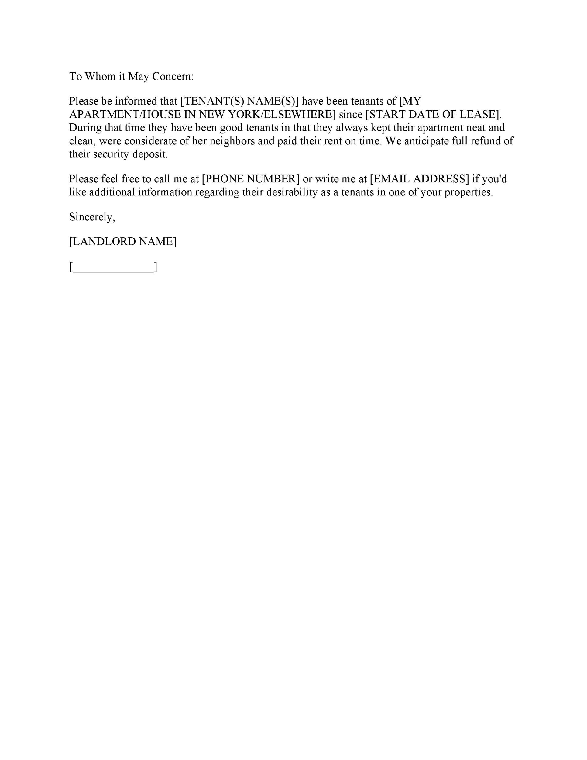 Free landlord reference letter 18