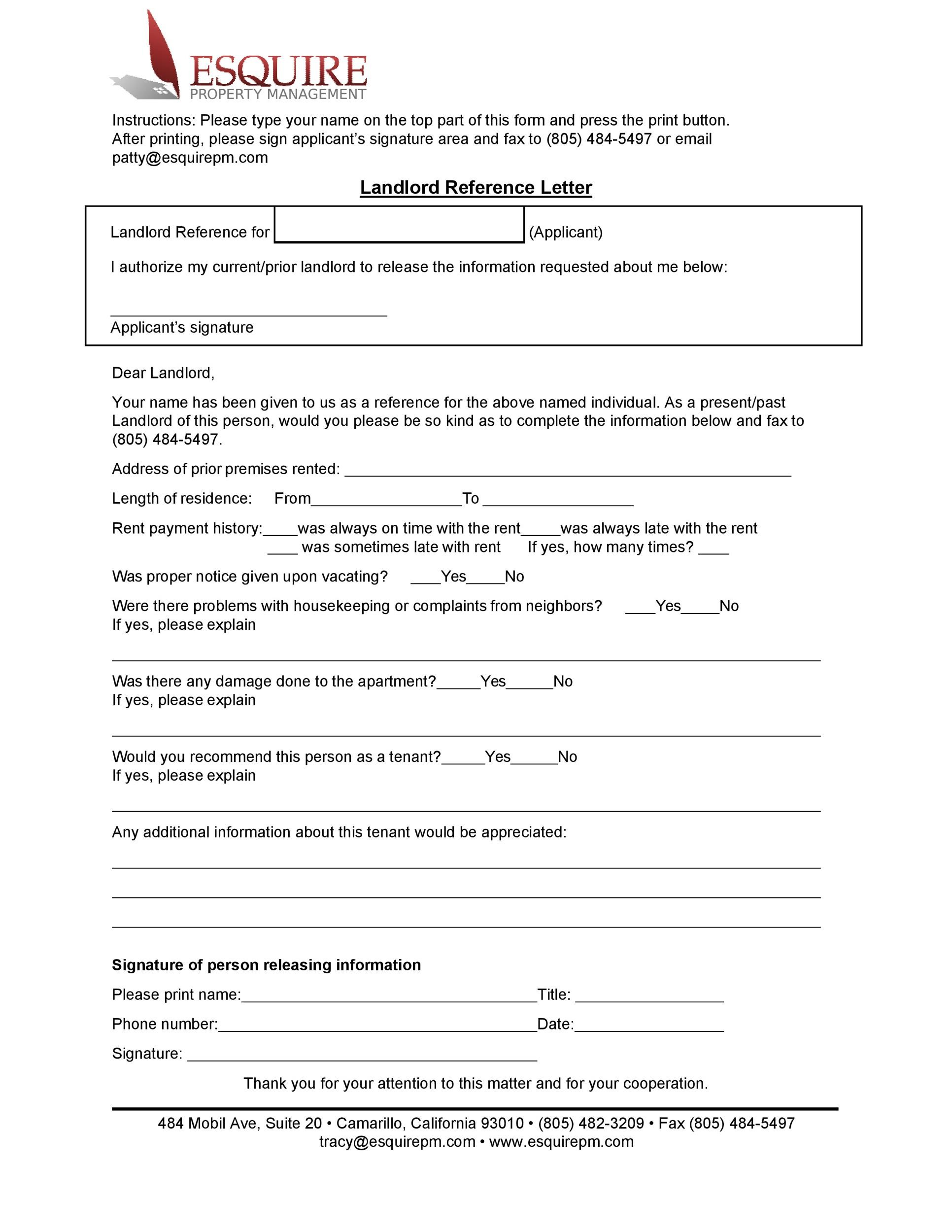 Free landlord reference letter 27
