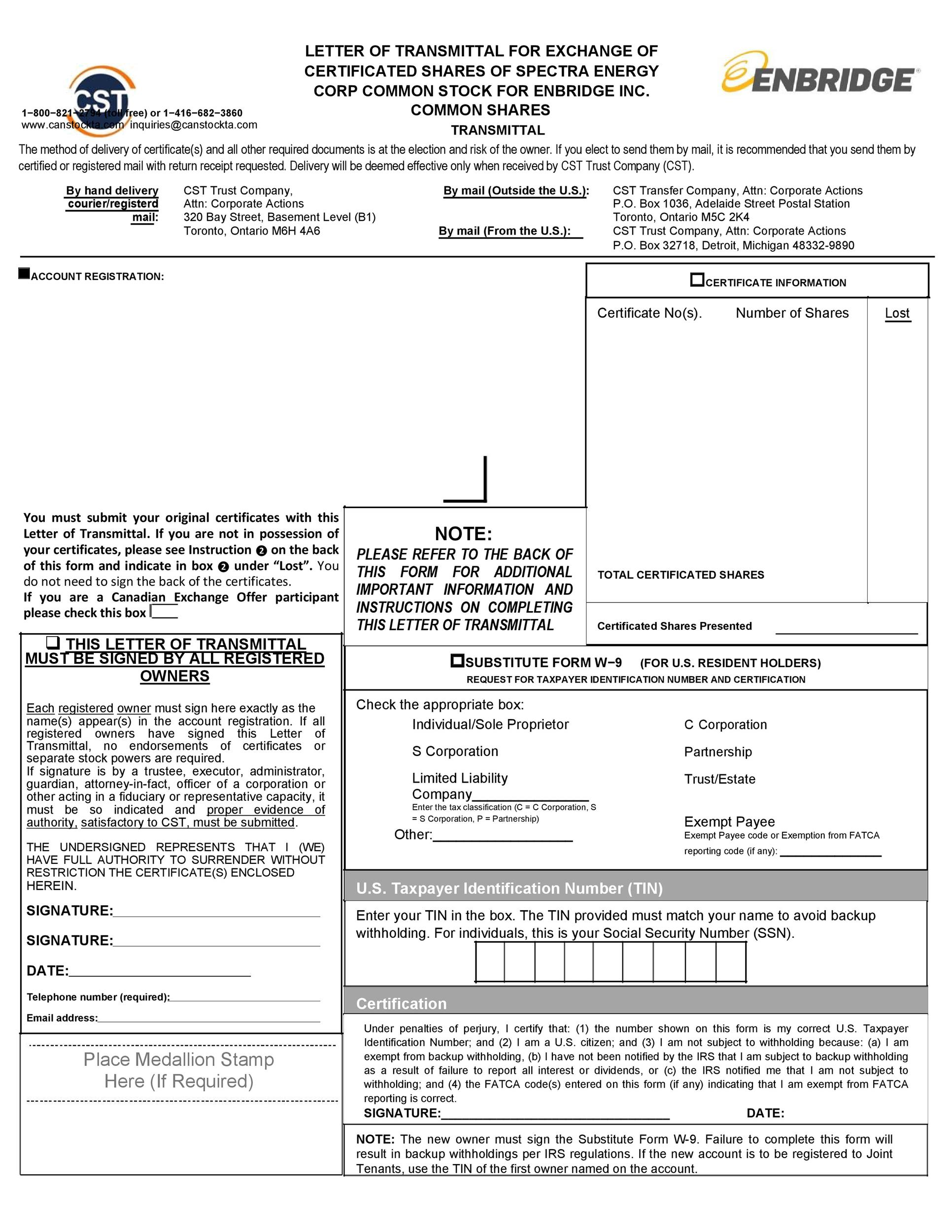 Free letter of transmittal template 30