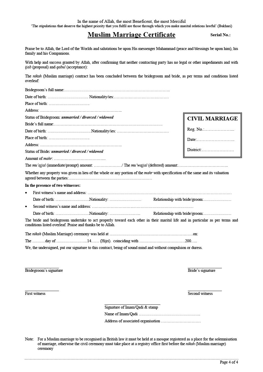 Free marriage contract template 03