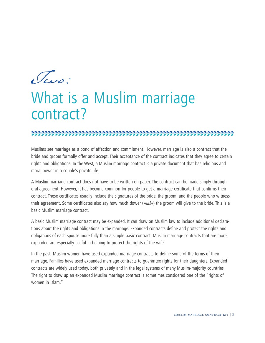 Free marriage contract template 11