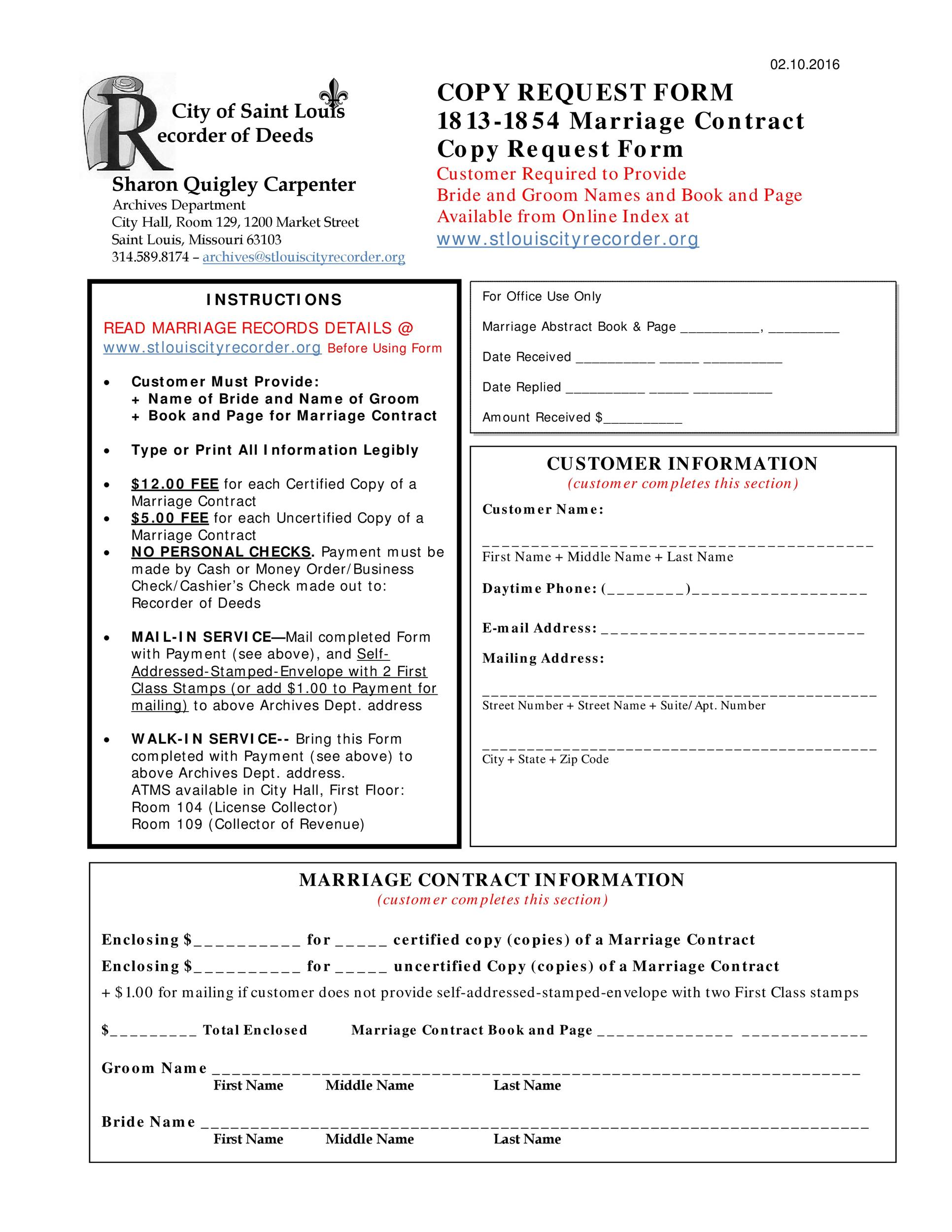 Marriage Contract Templates