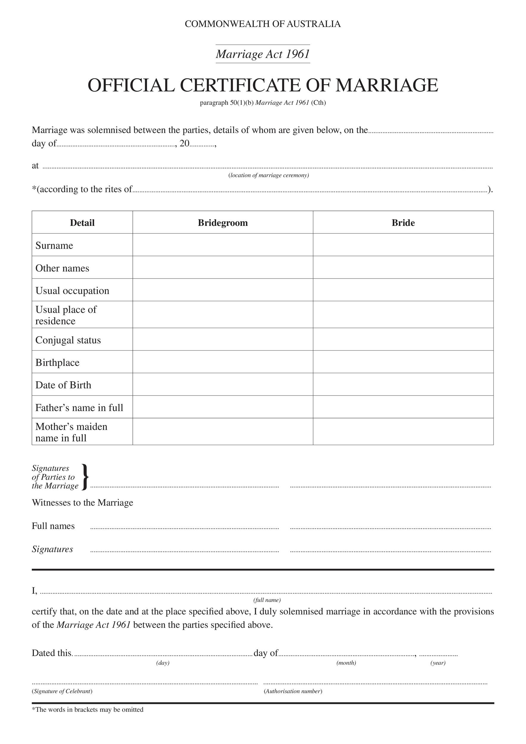 Free marriage contract template 19