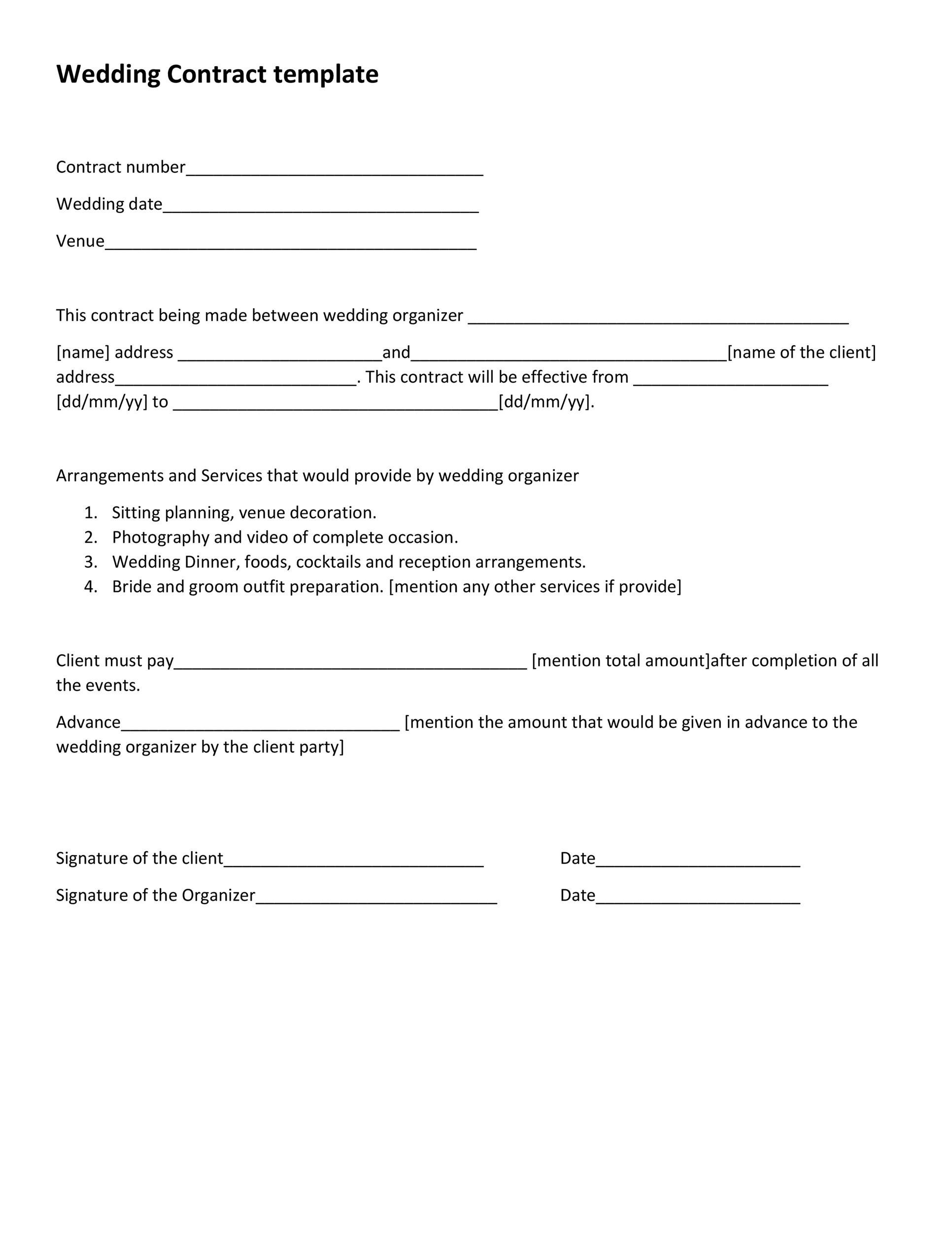 Free marriage contract template 26