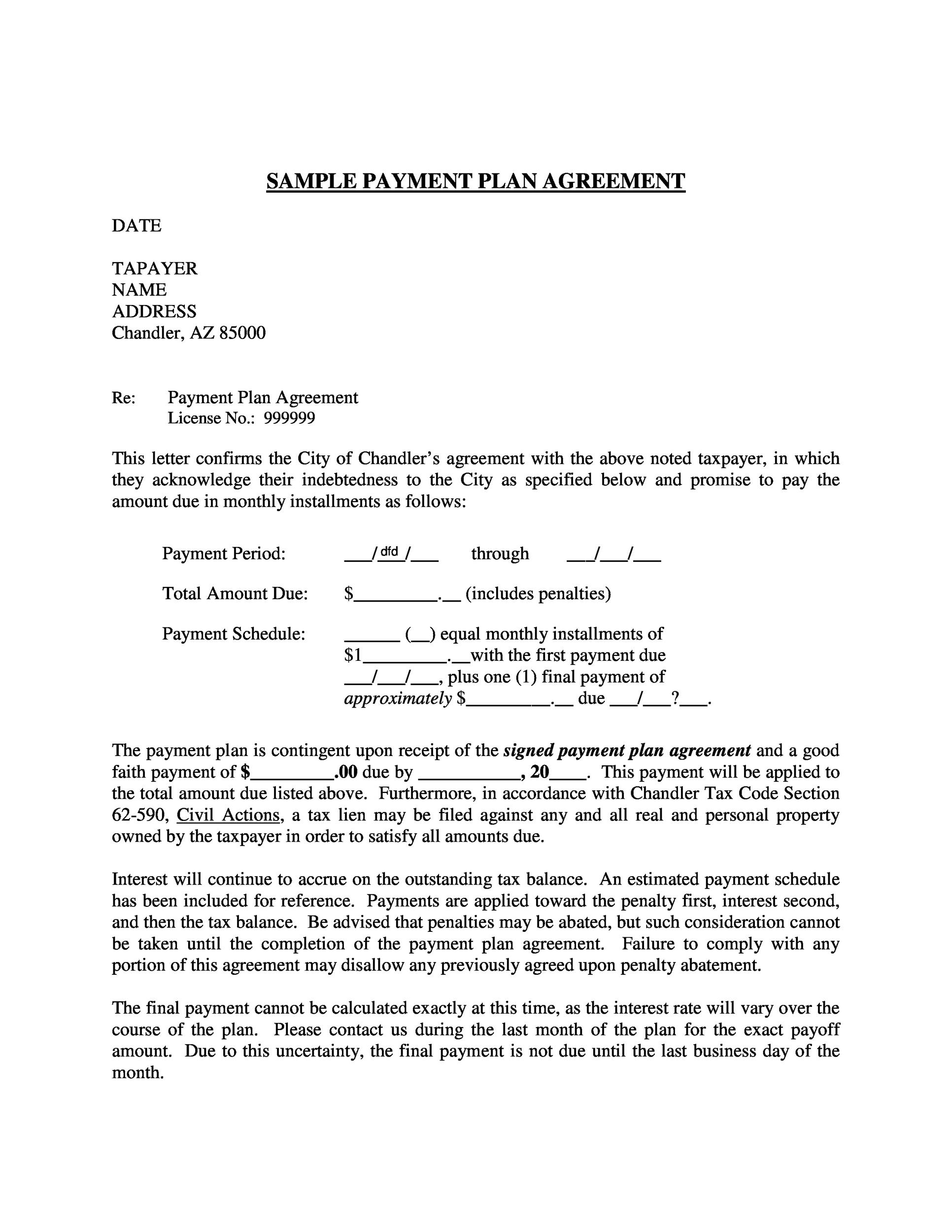 free payment agreement template 02