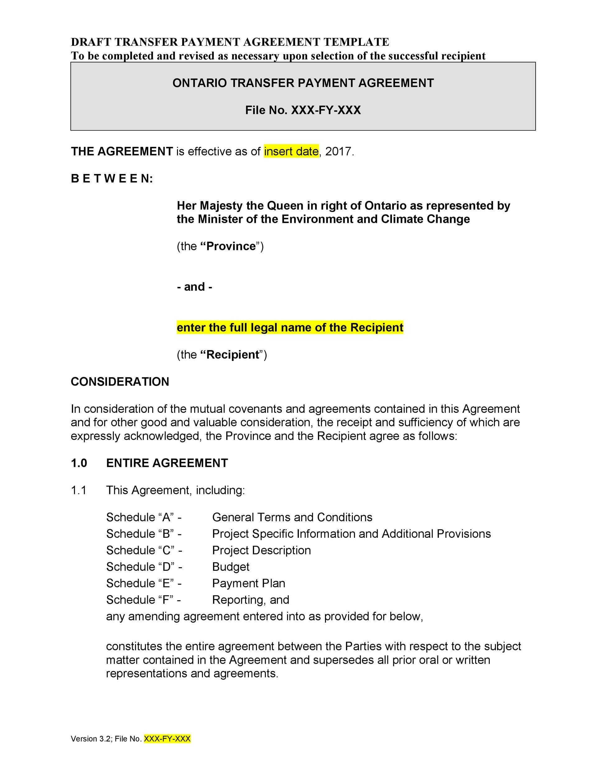 Free payment agreement template 09