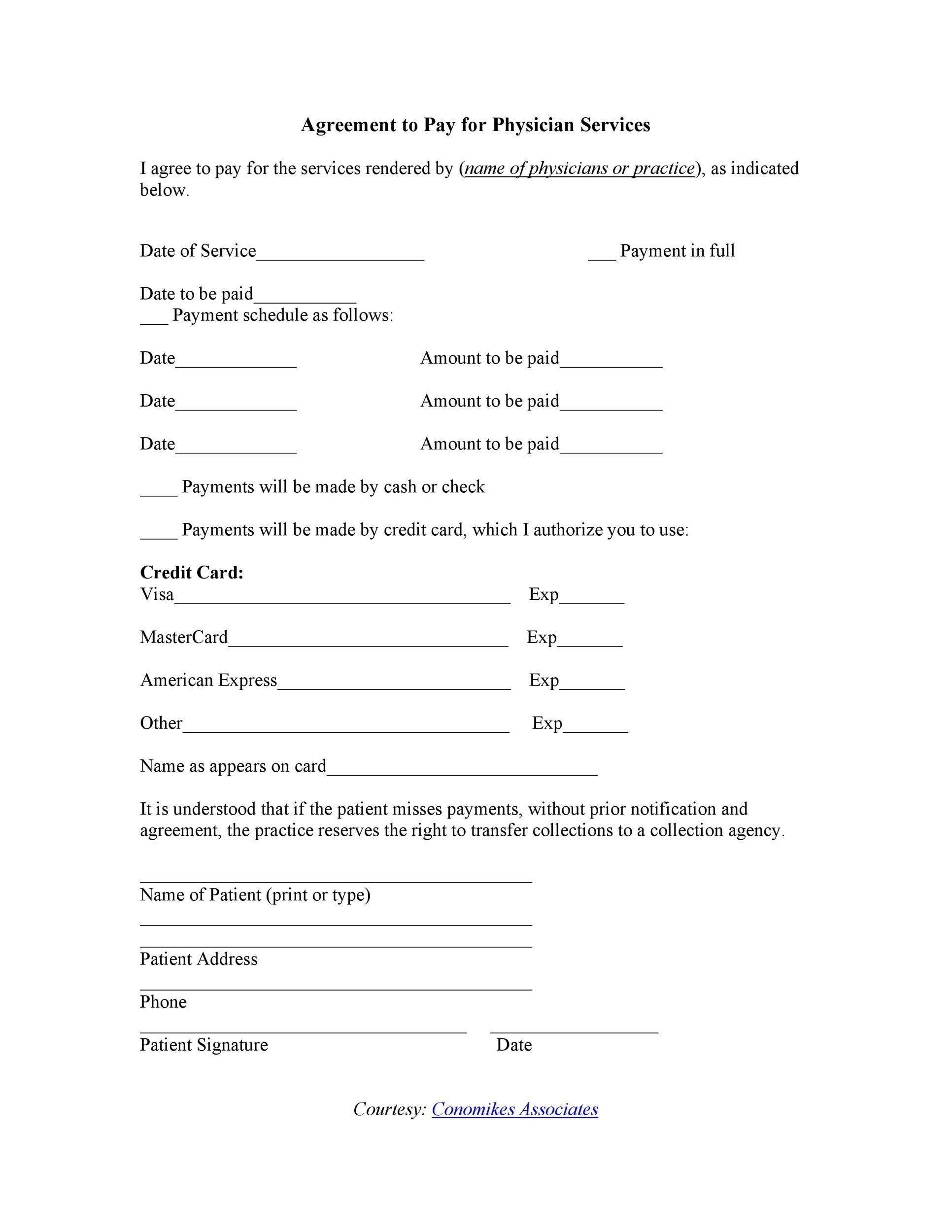 Free payment agreement template 10