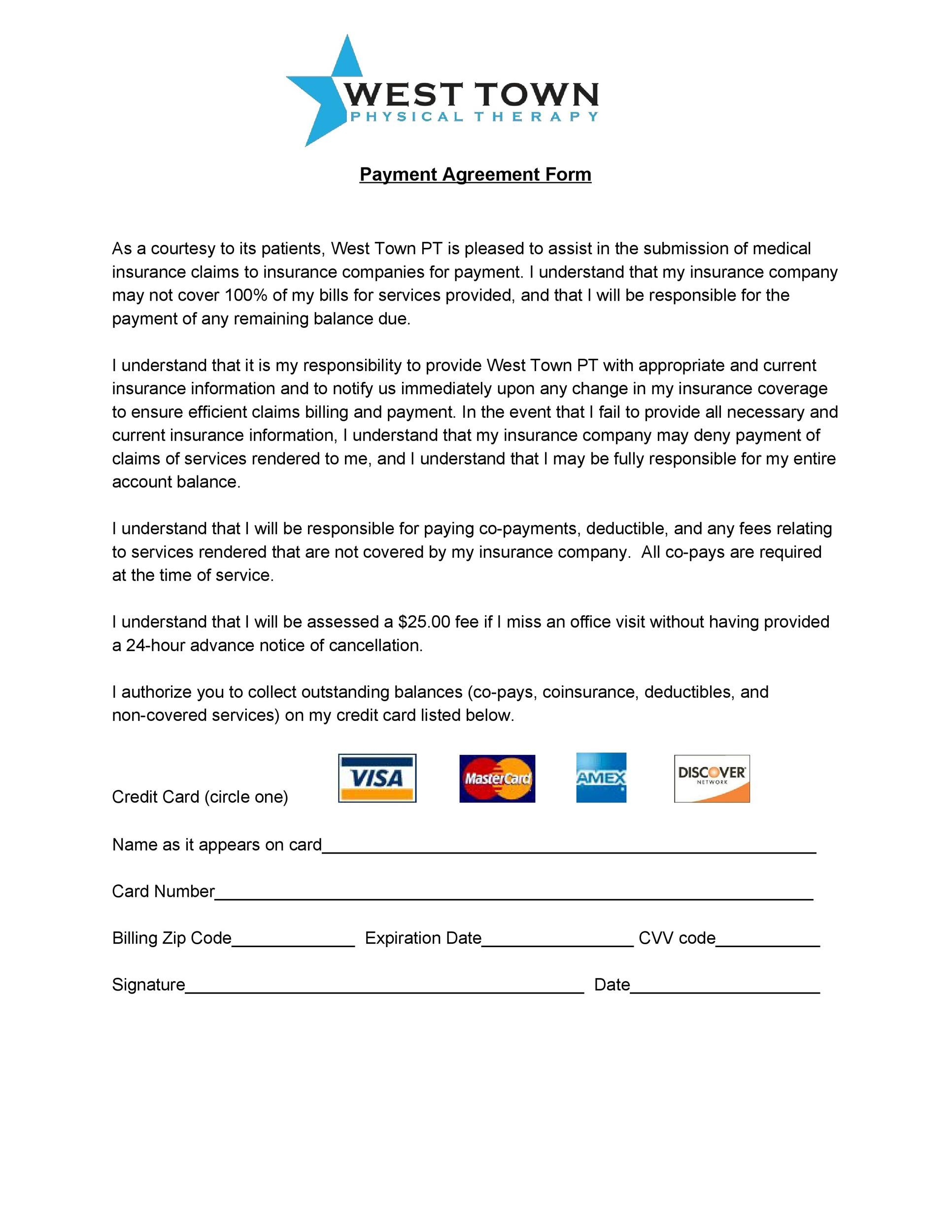 free payment agreement template 13