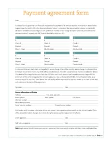 payment agreement template 17