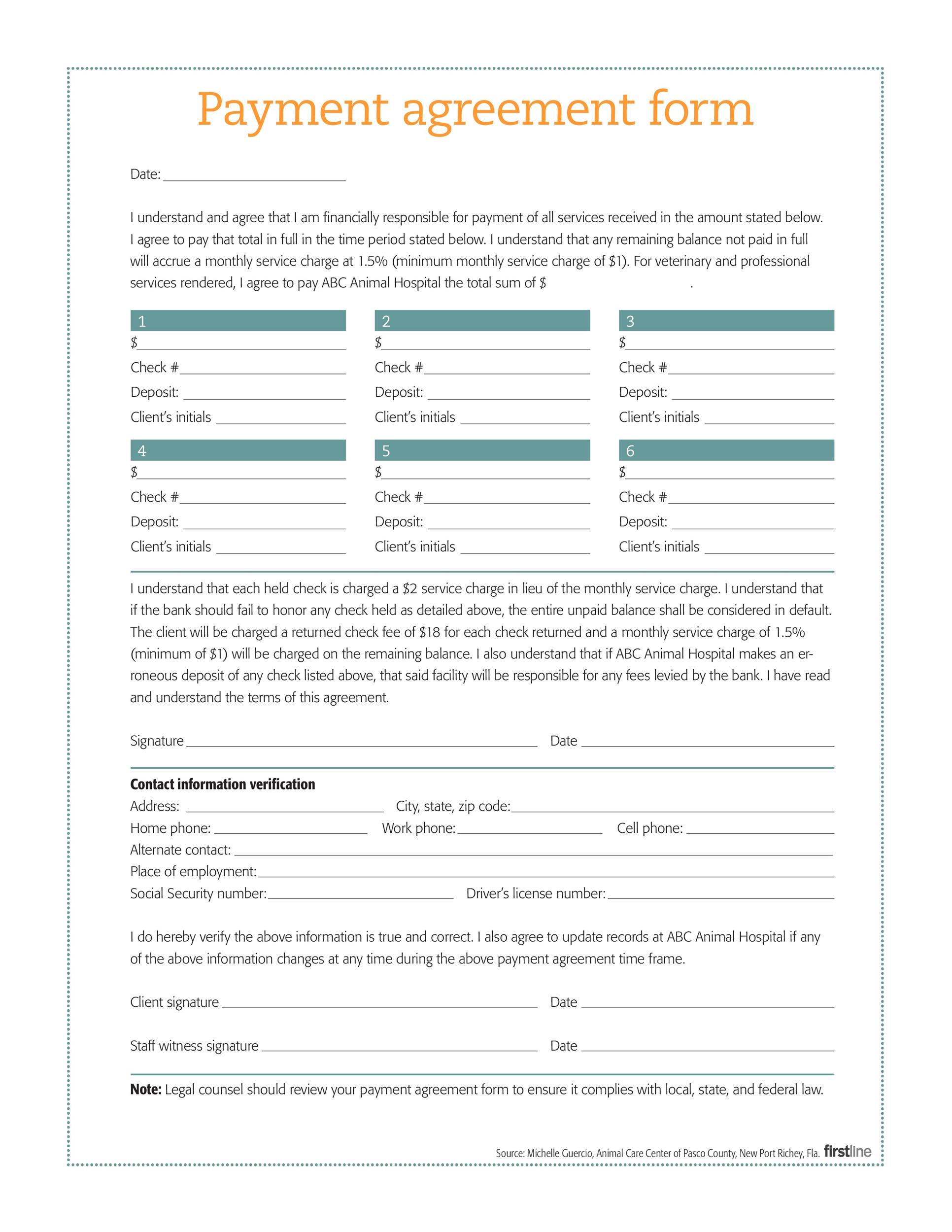 Payment Agreement Templates