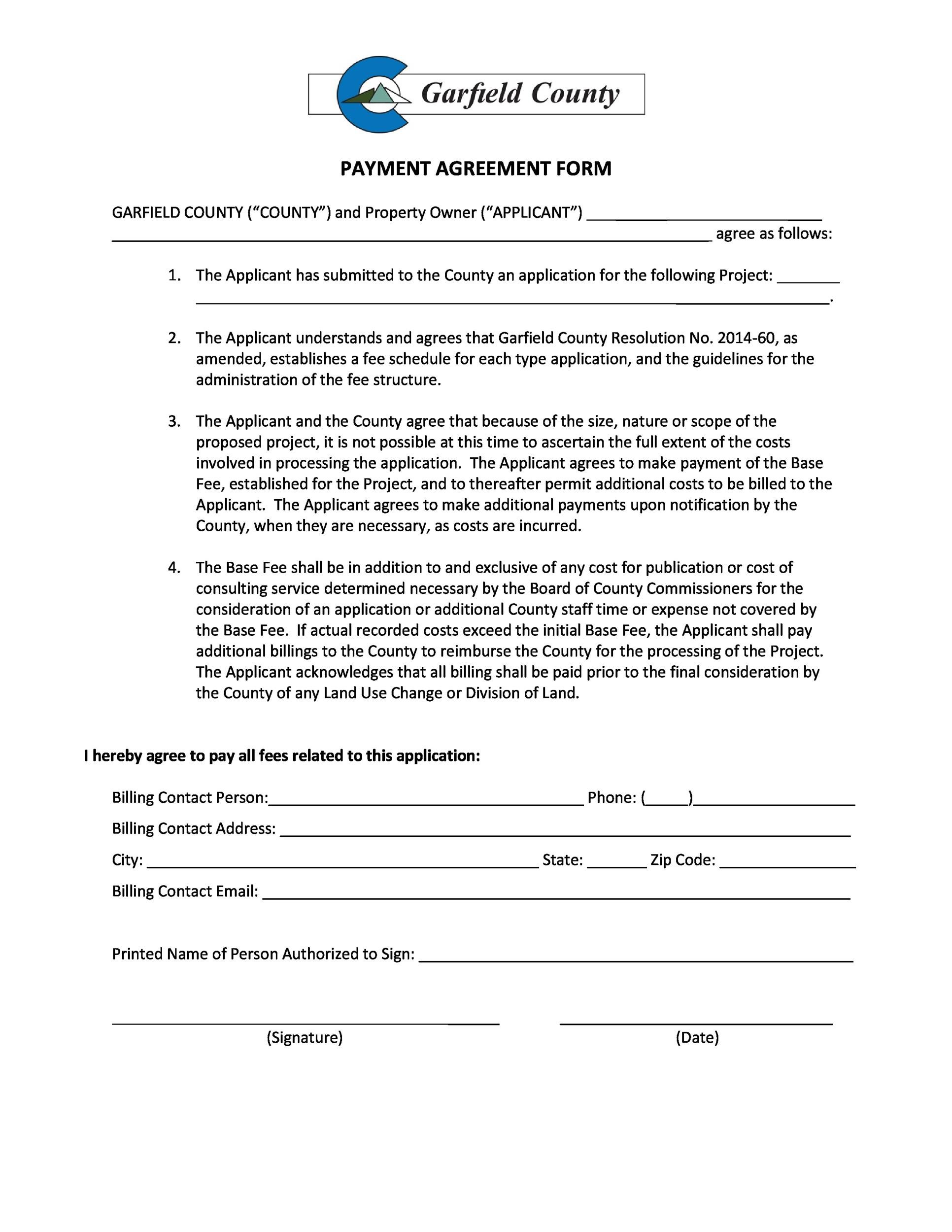 Free payment agreement template 19