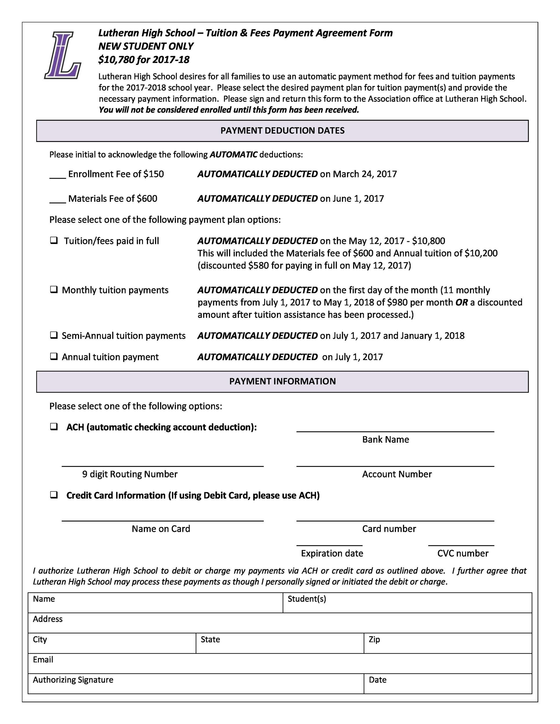 Free payment agreement template 30