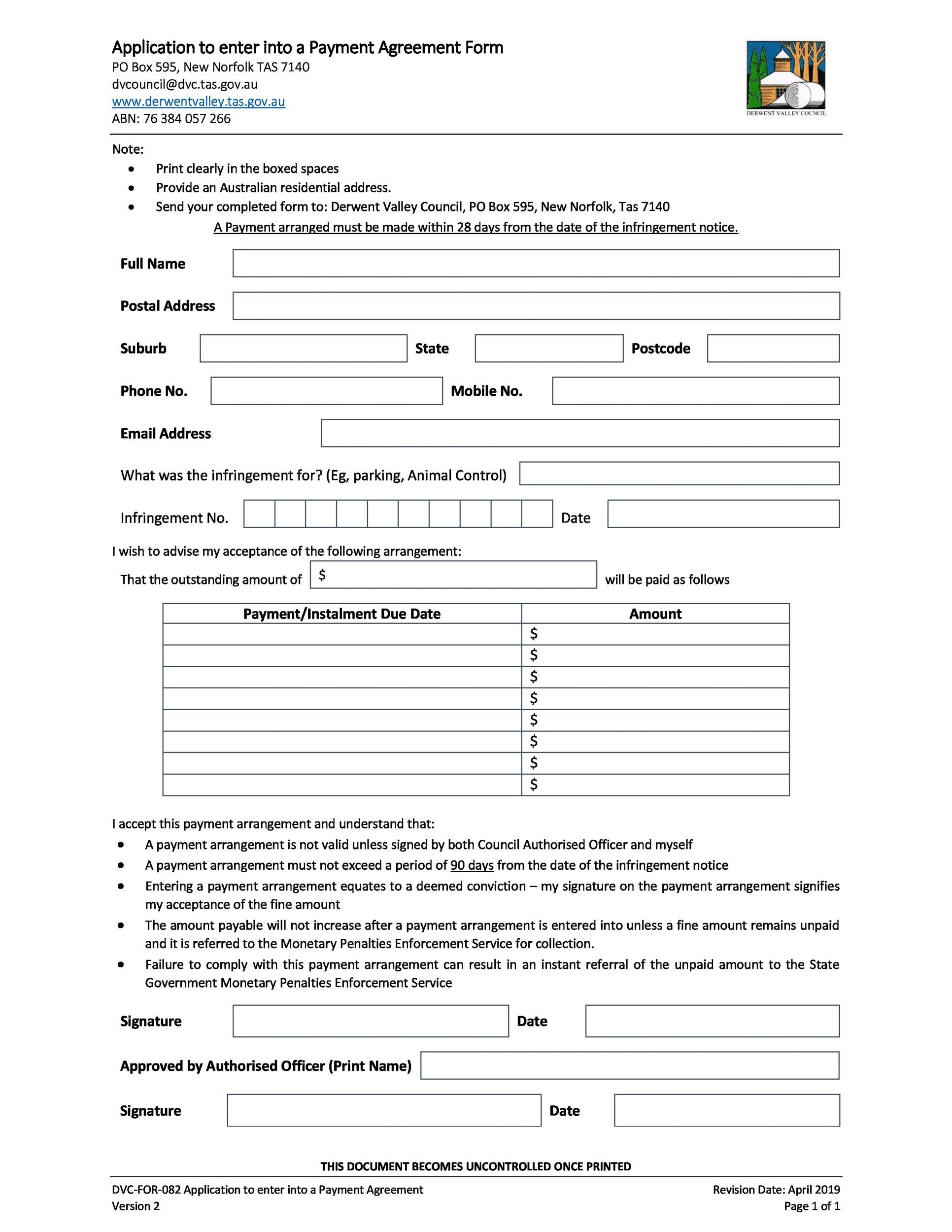 Free payment agreement template 31