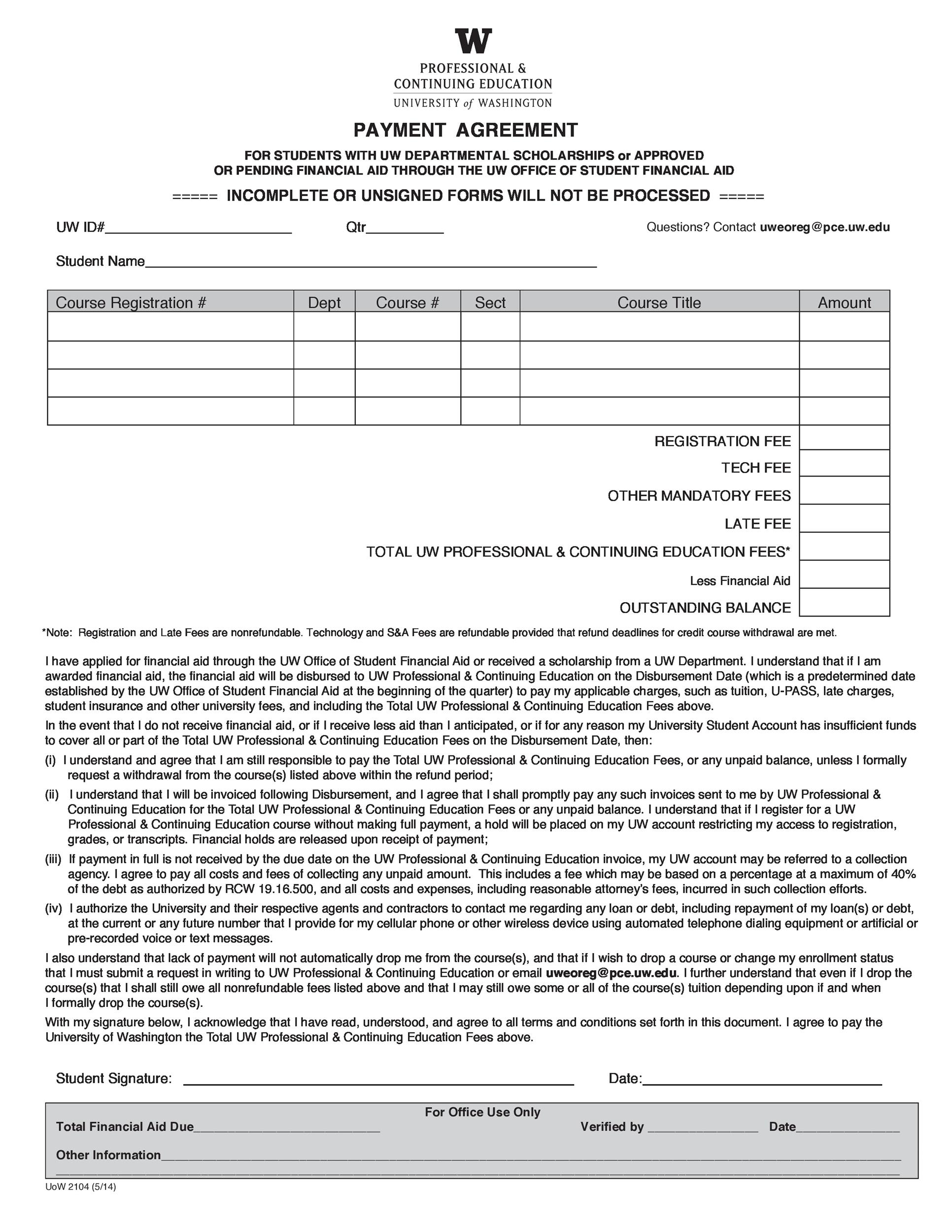 Free payment agreement template 33