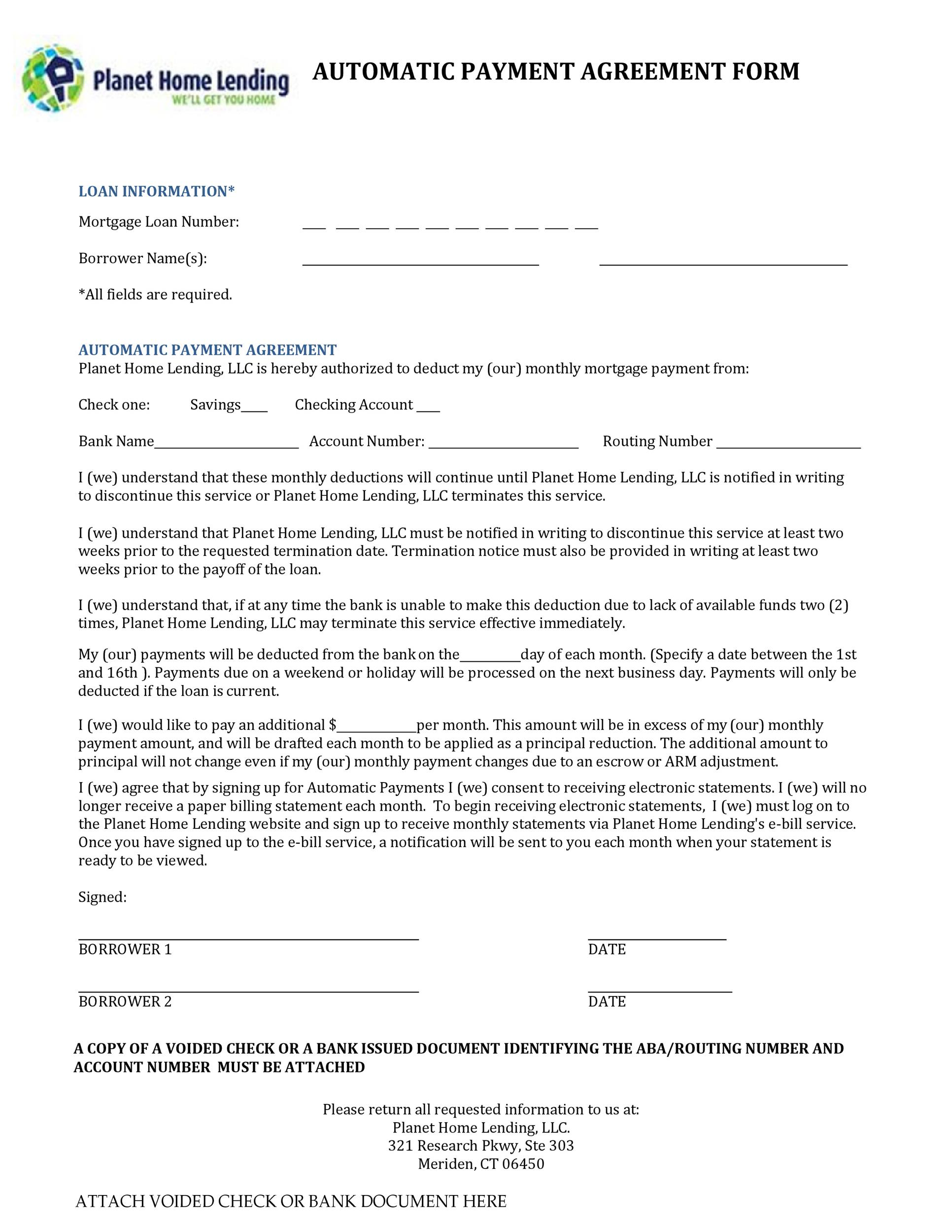 Free payment agreement template 35