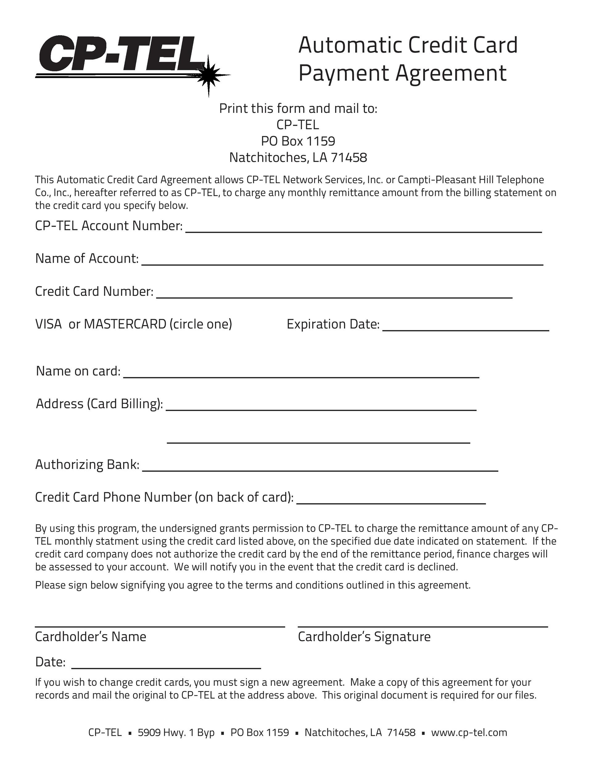 Free payment agreement template 36