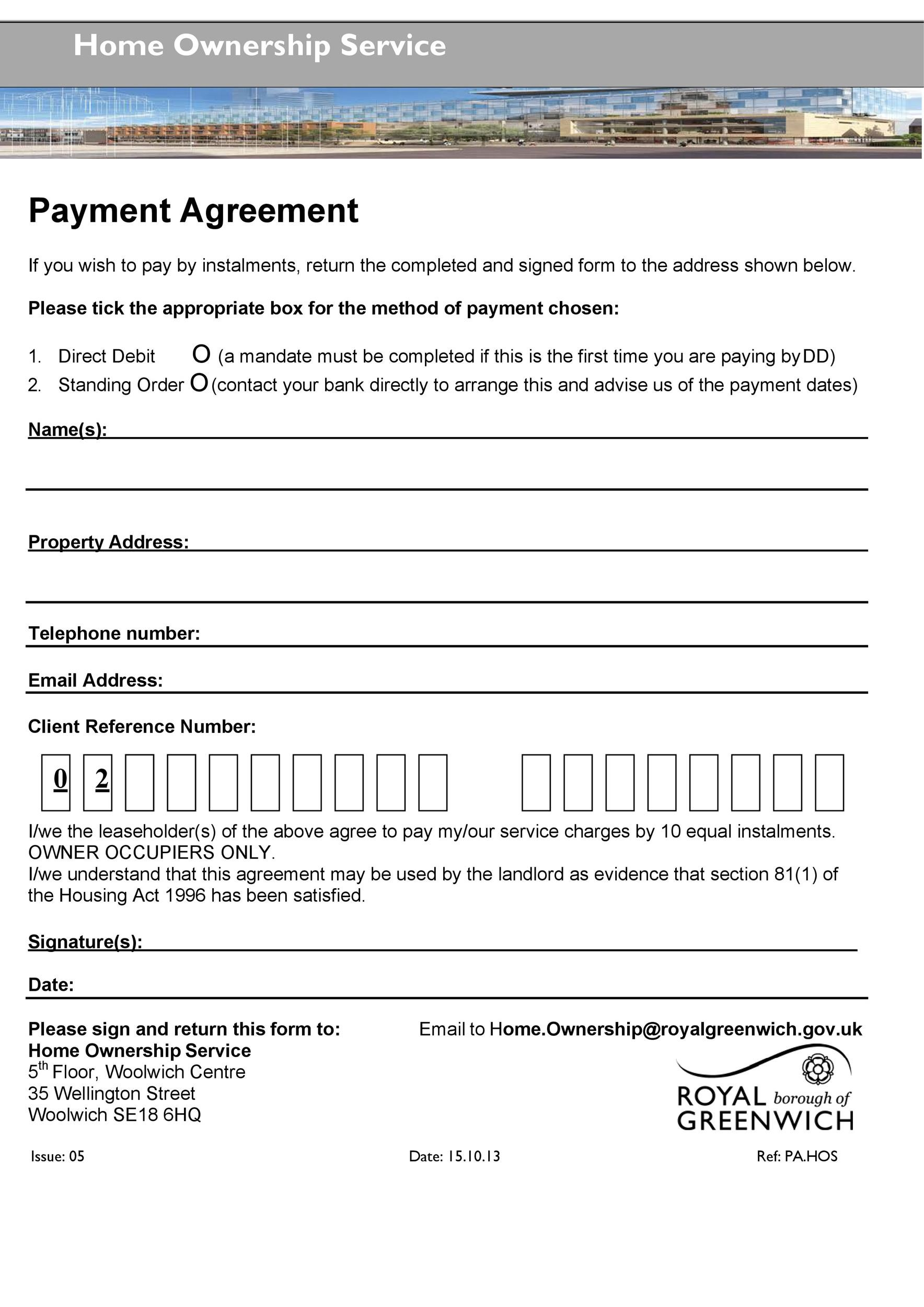free payment agreement template 37