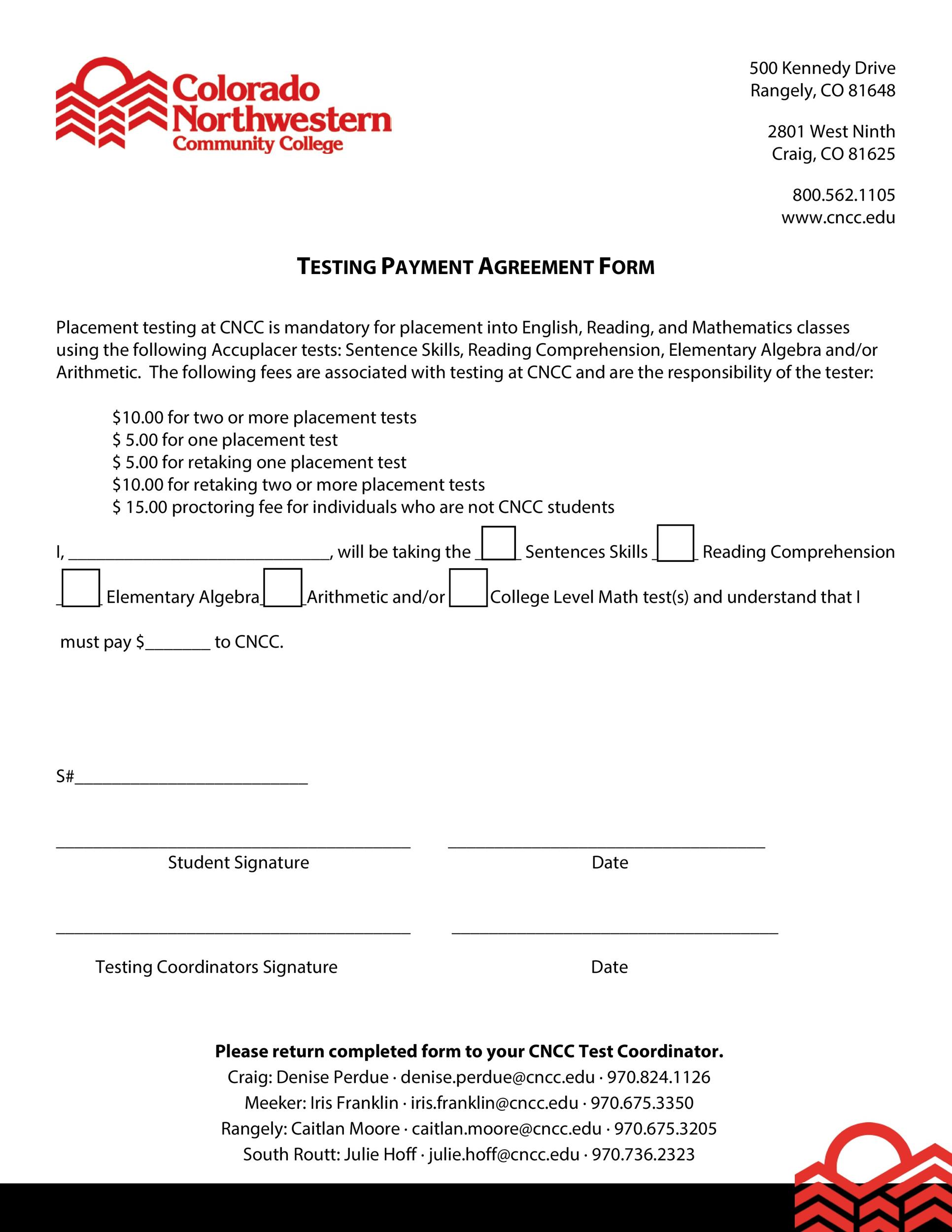 Free payment agreement template 39