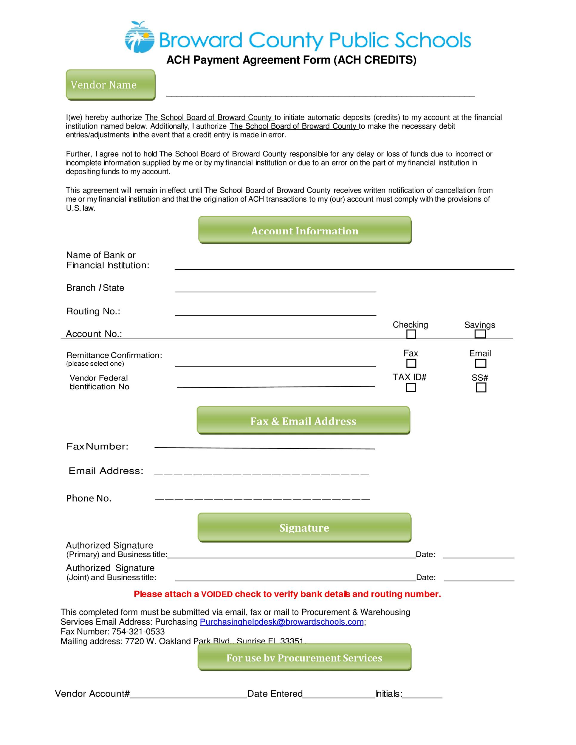 Free payment agreement template 40