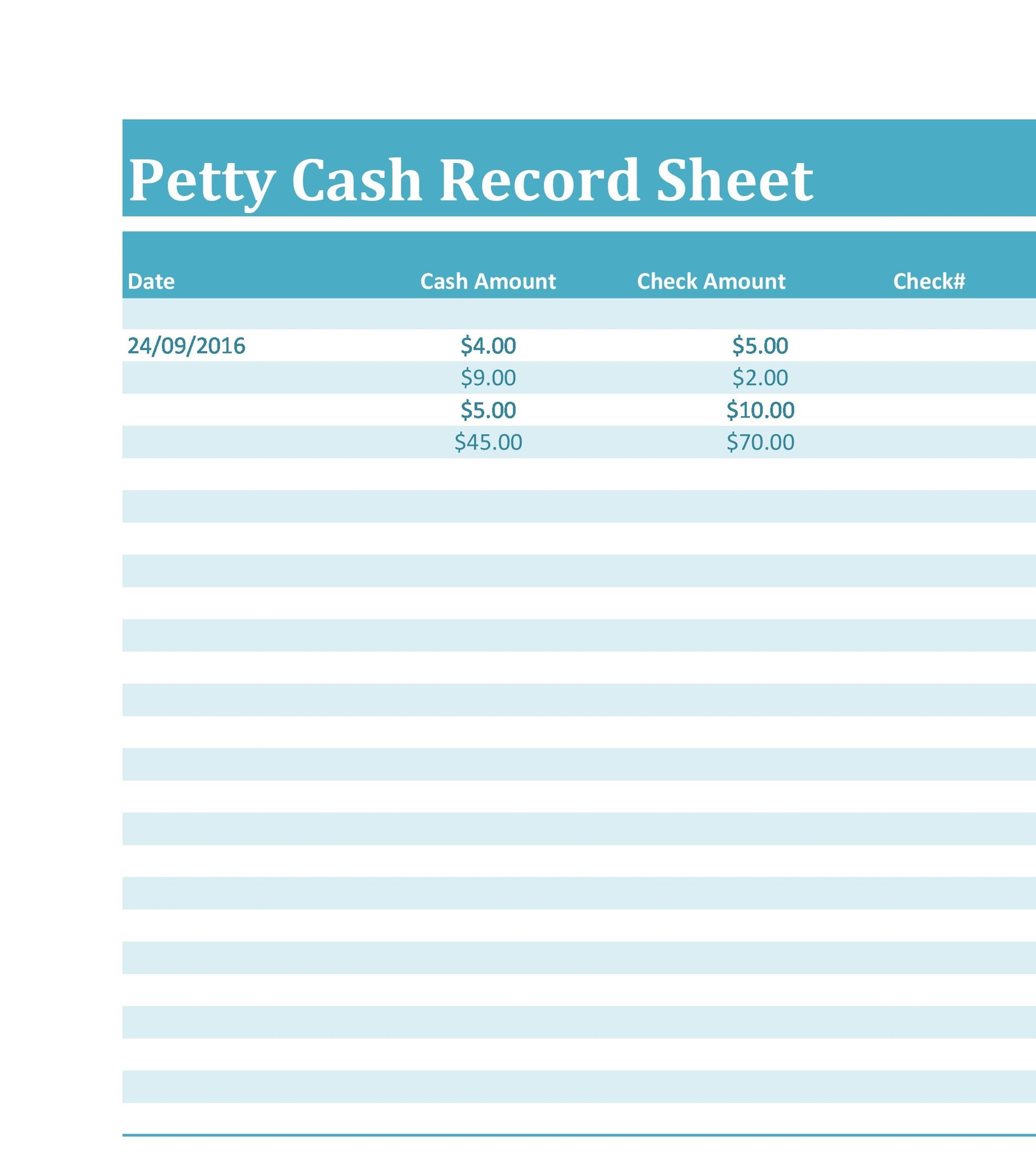 Printable Petty Cash Log 07  Petty Cash Form Template