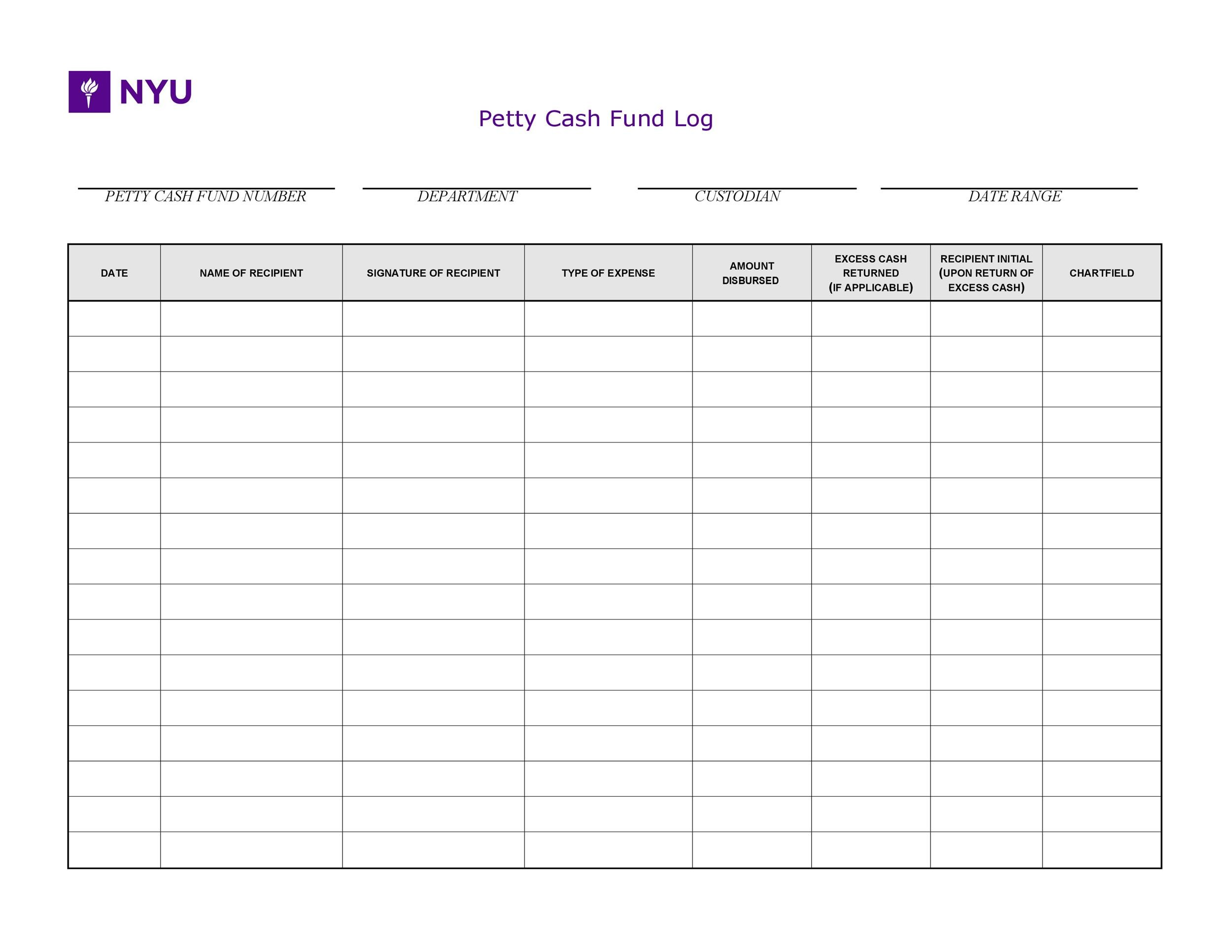 Petty Cash Excel Template from templatelab.com