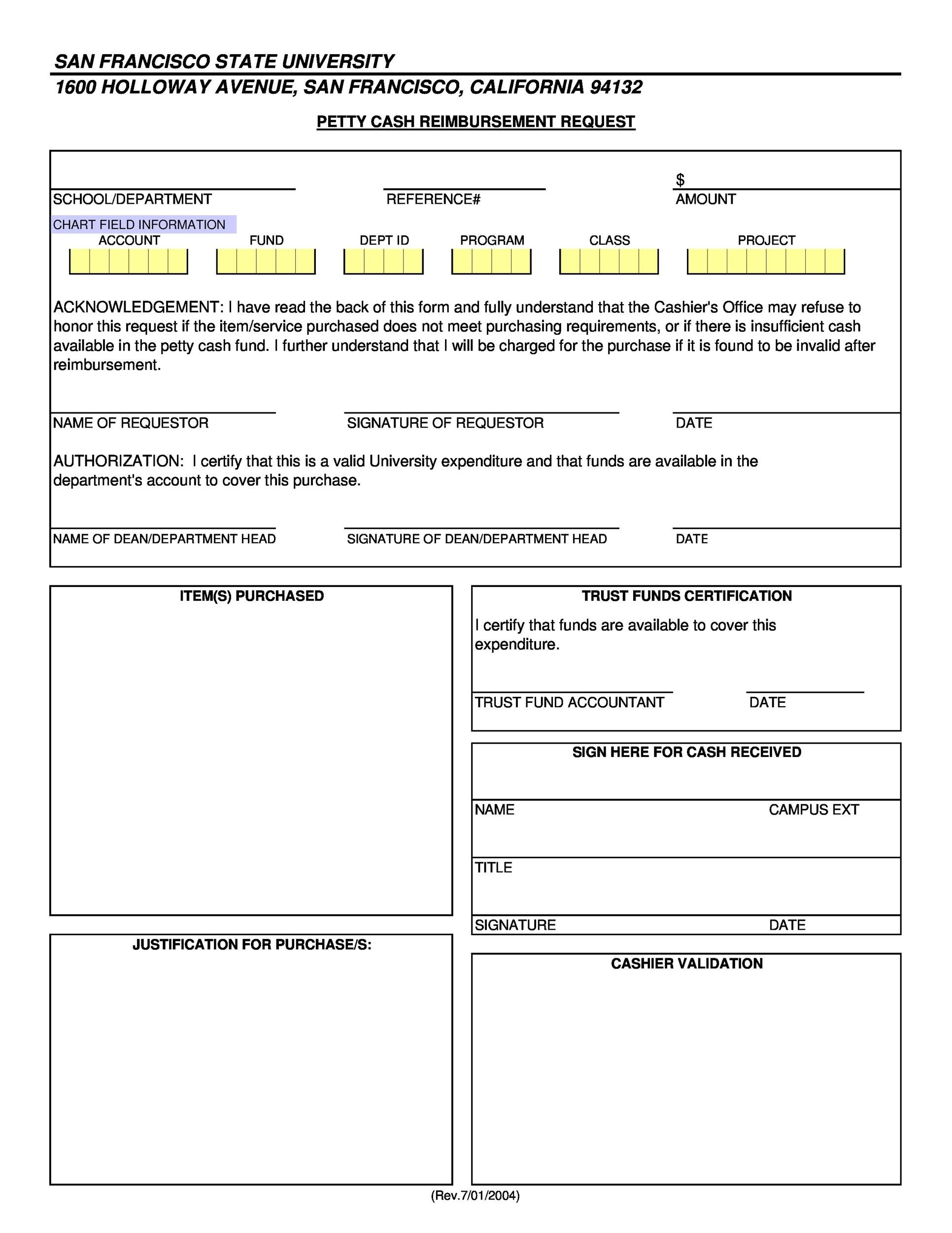 40 Petty Cash Log Templates U0026 Forms Excel Pdf Word Template Lab