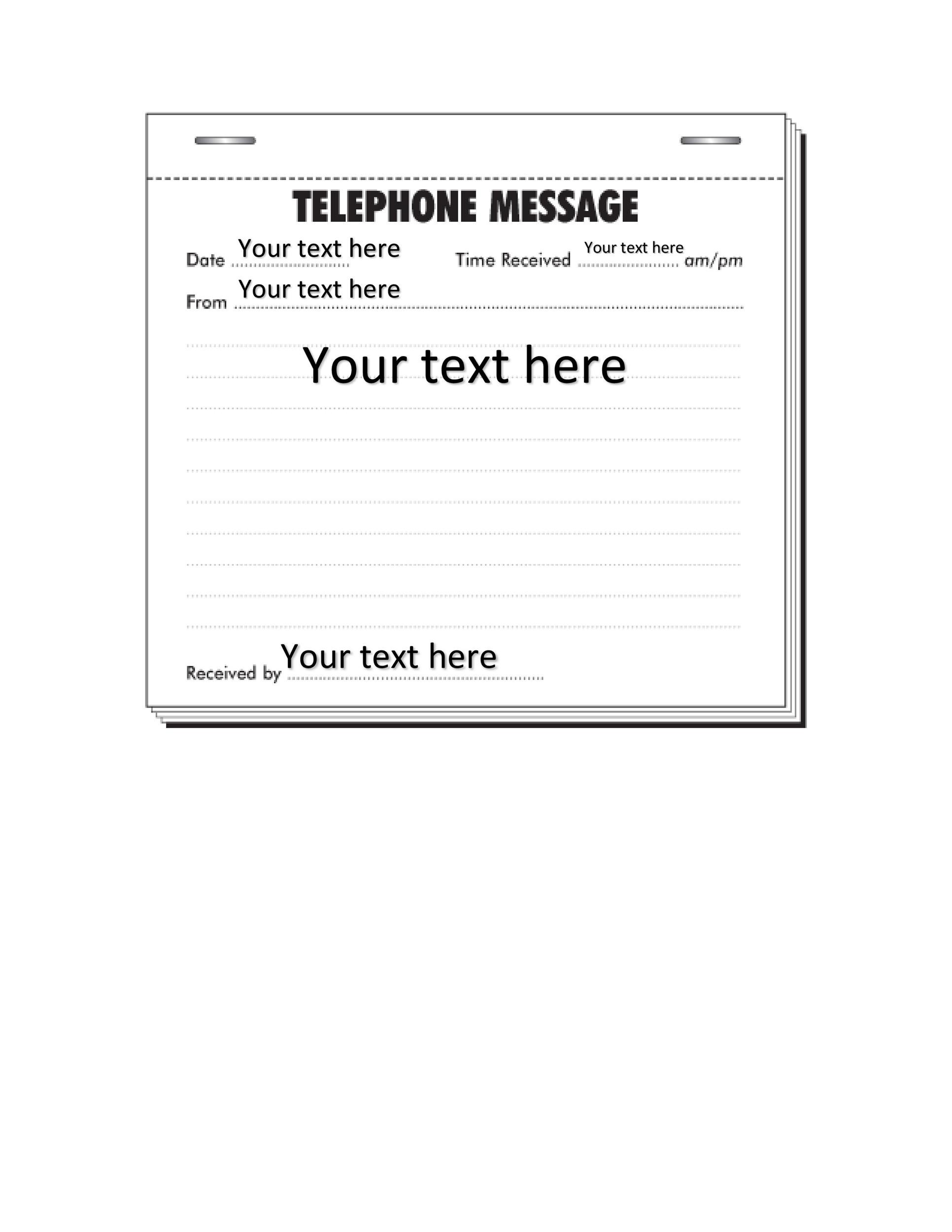 Free phone message template 16