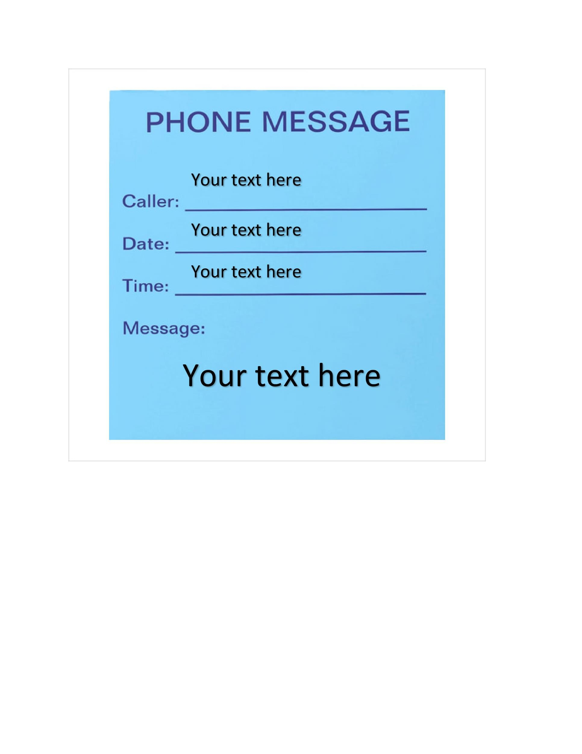 Free phone message template 17