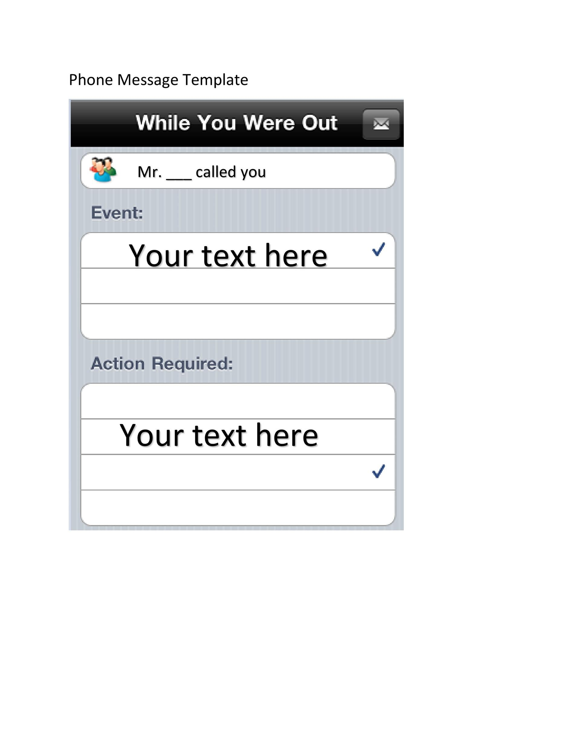 Free phone message template 21
