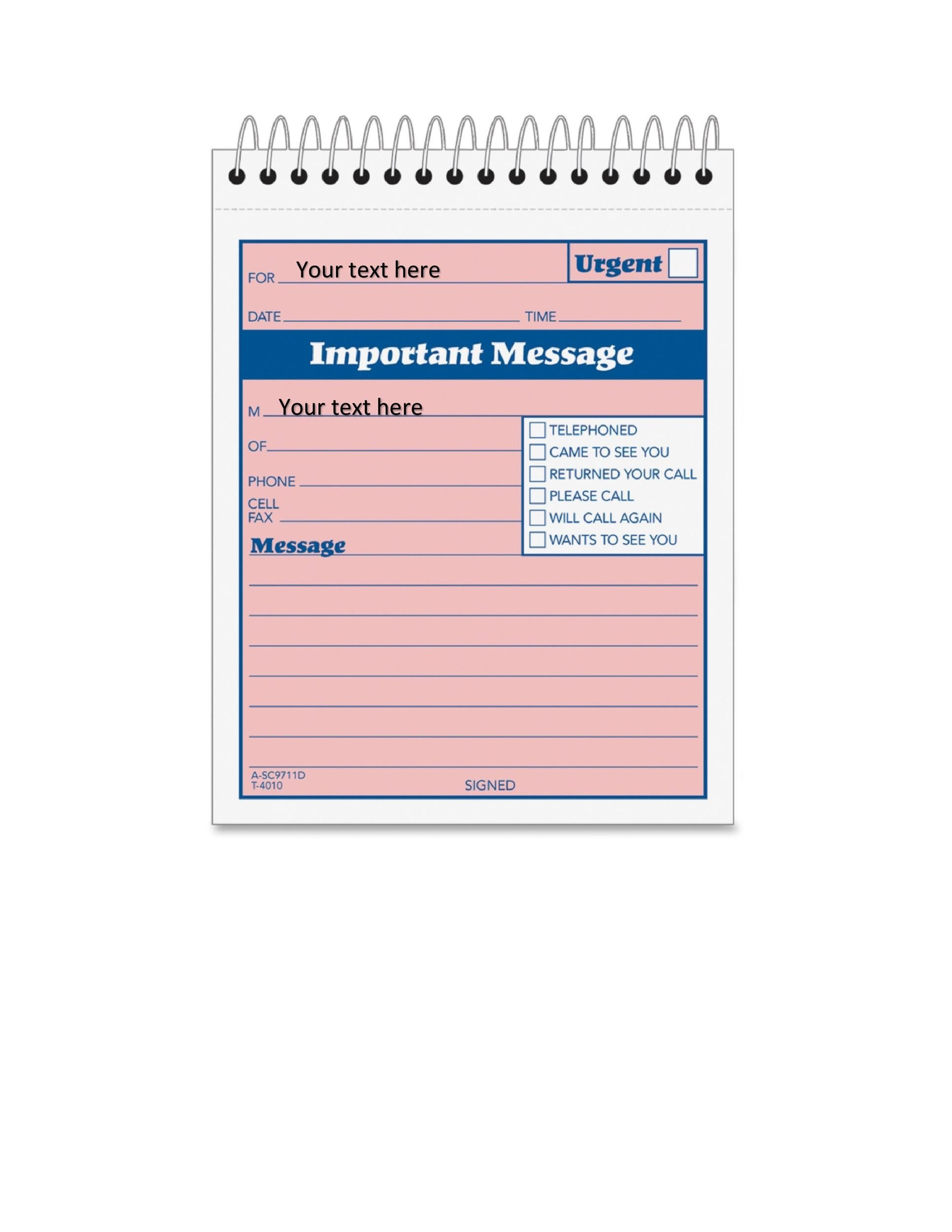 Free phone message template 23