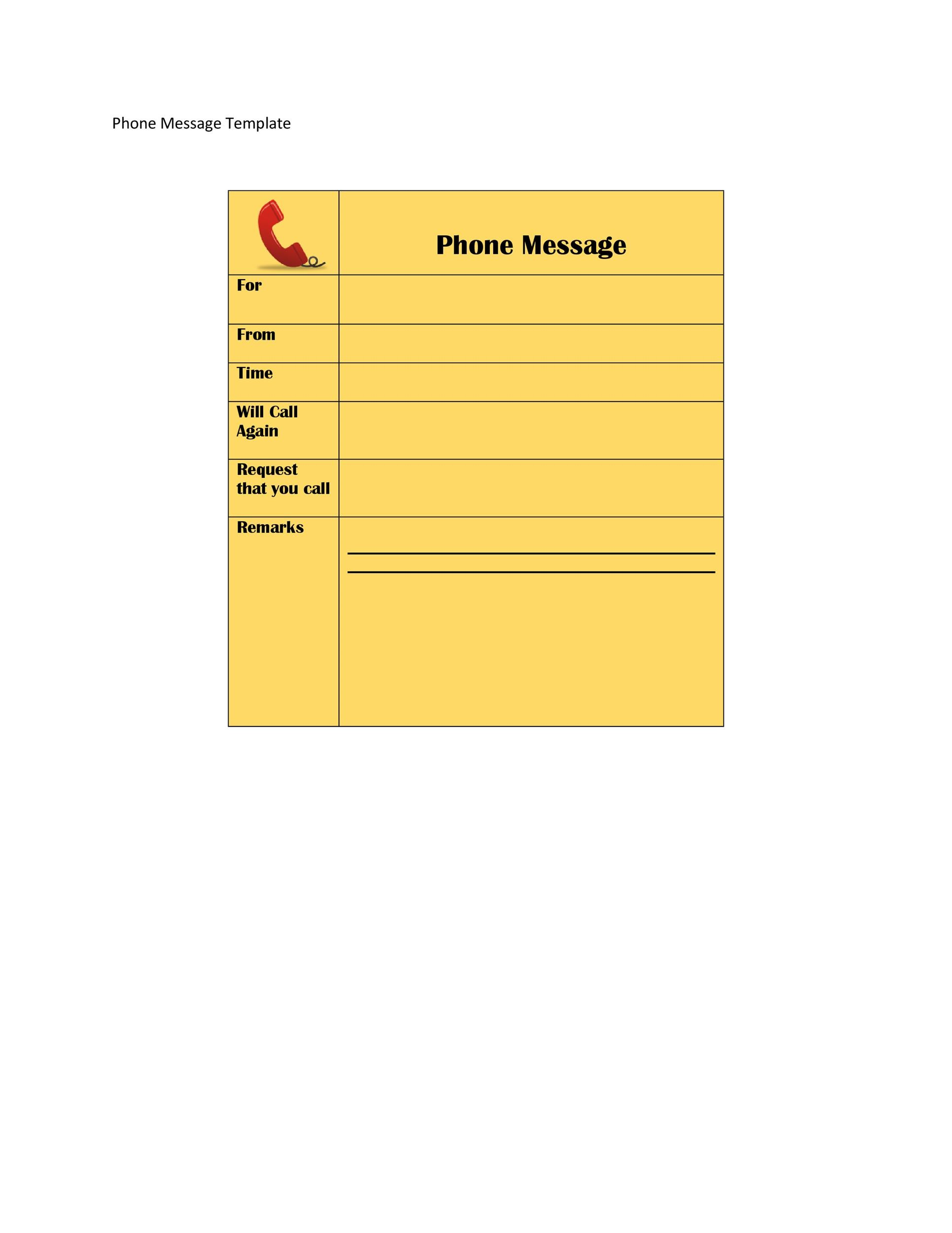 Free phone message template 28