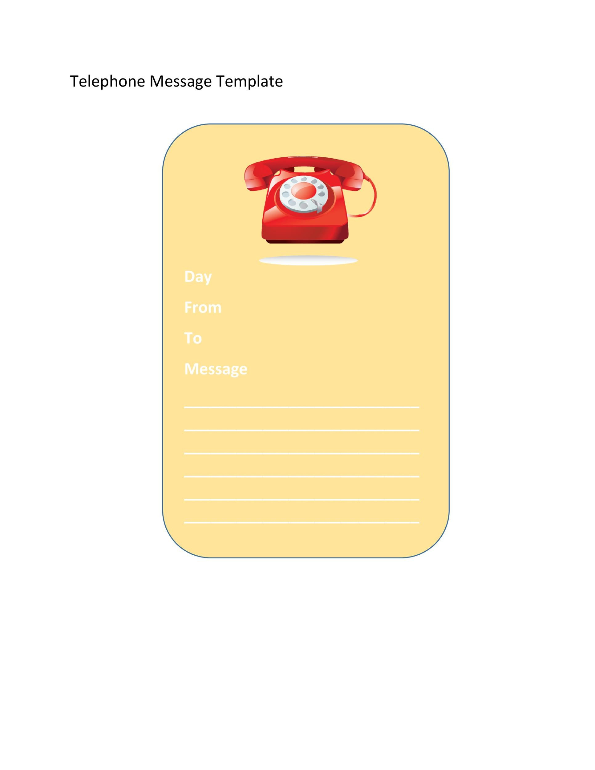 Free phone message template 30