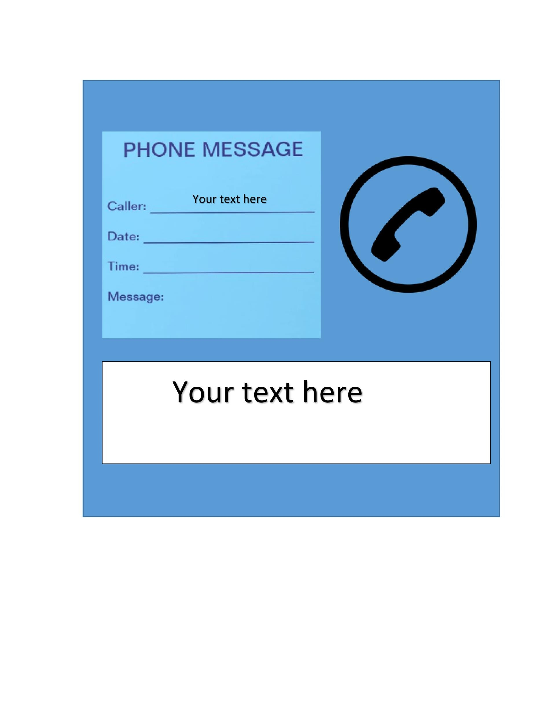 Free phone message template 35