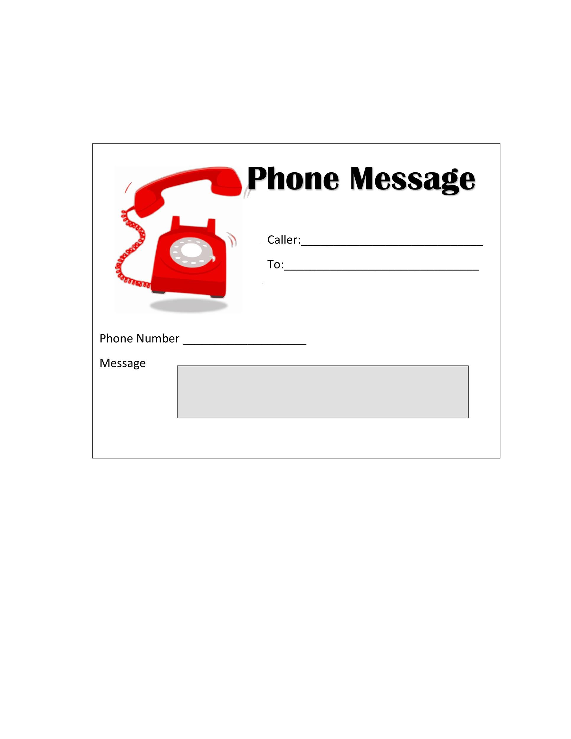 Free phone message template 36