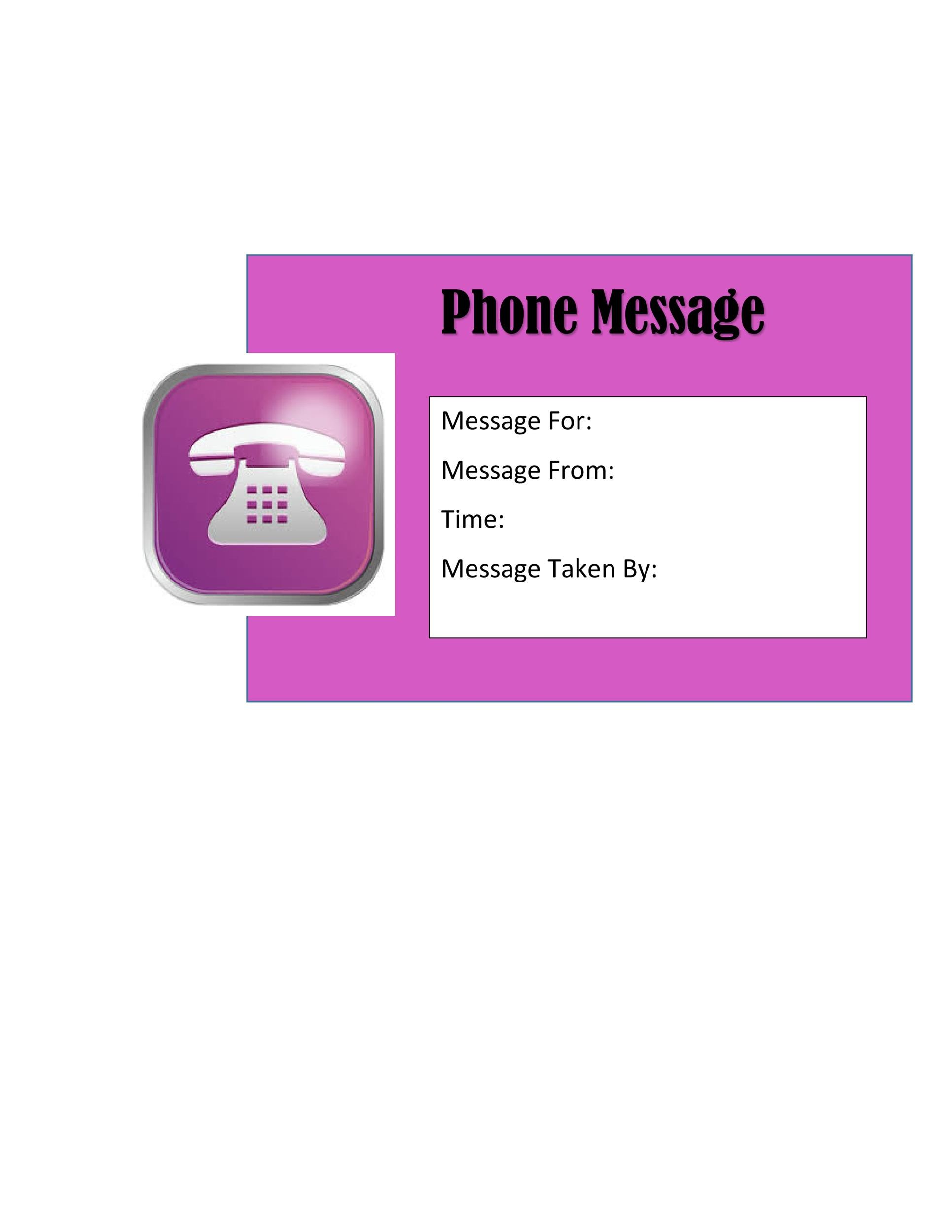 Free phone message template 37