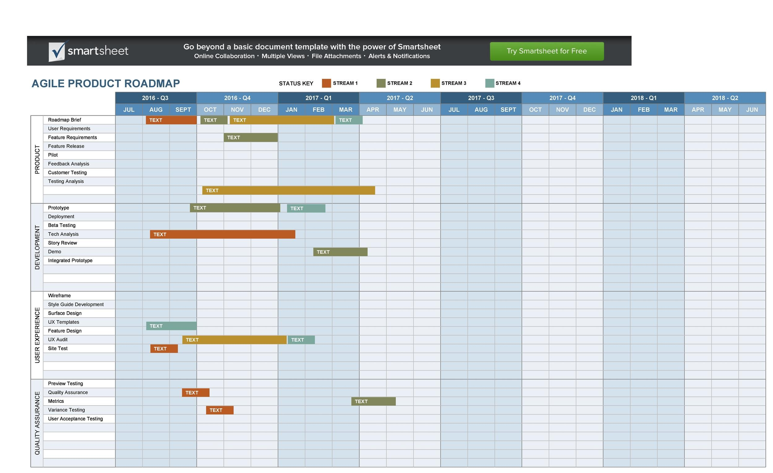 22 Visual Product Roadmap Templates & Tools - Template Lab