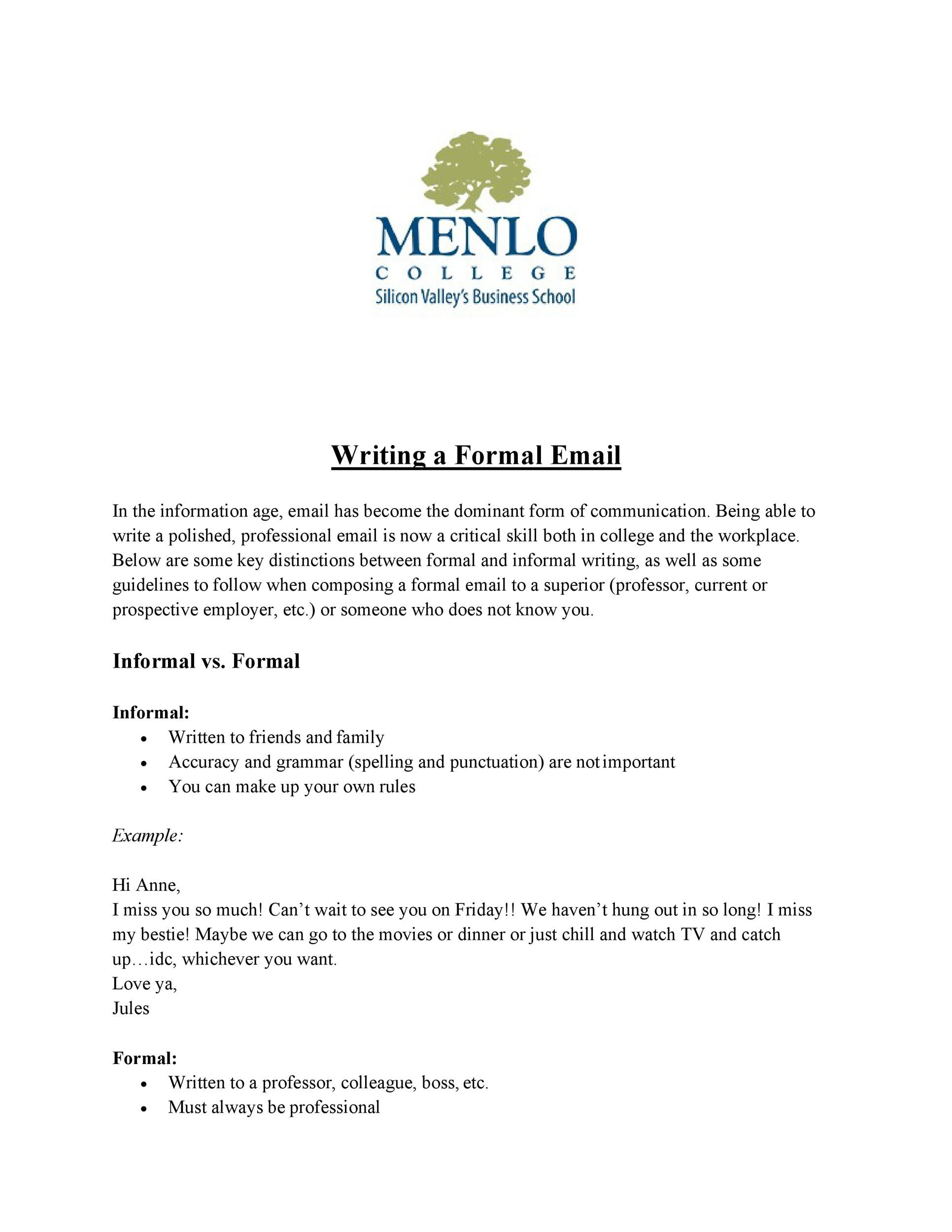 30+ Professional Email Examples & Format Templates - Template Lab