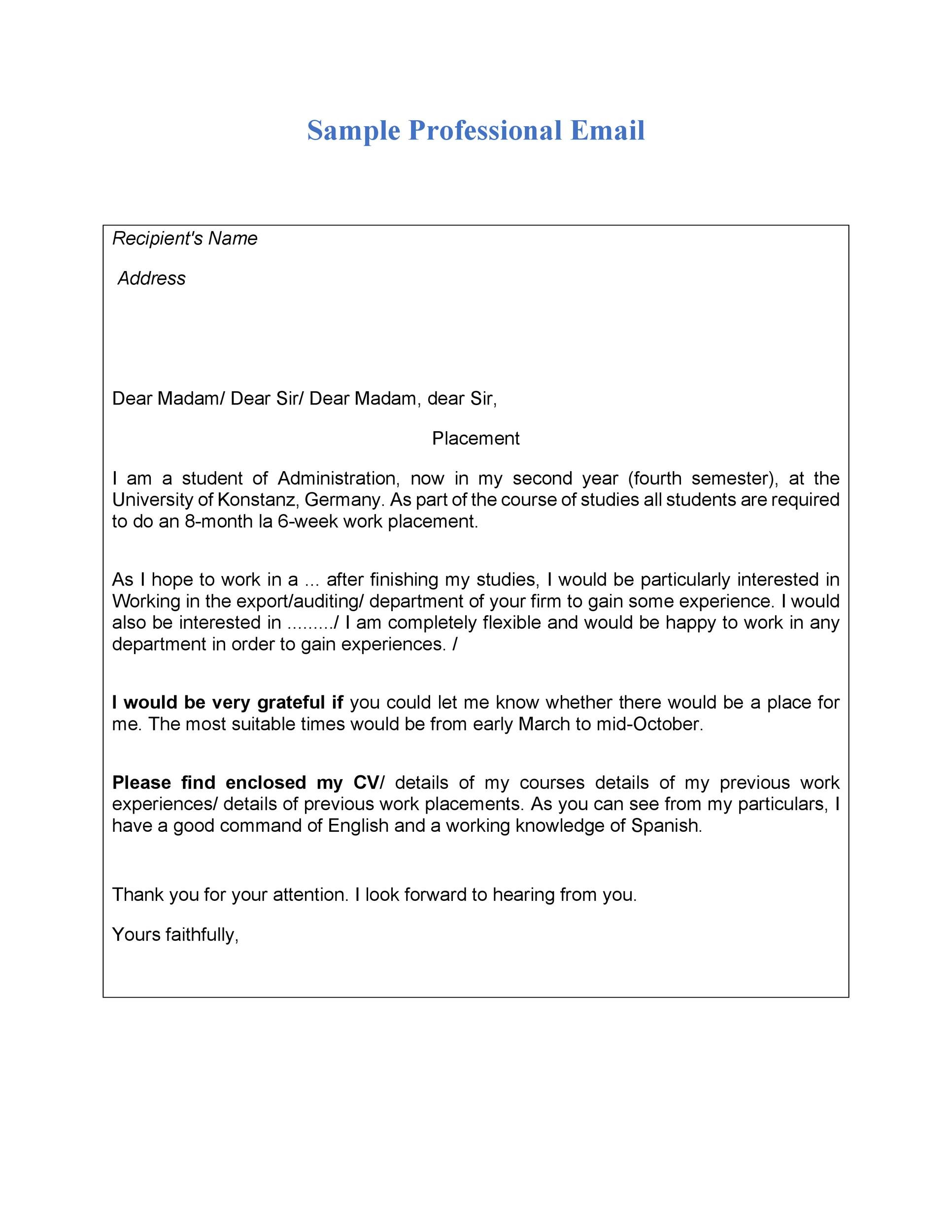 Free professional email example 07