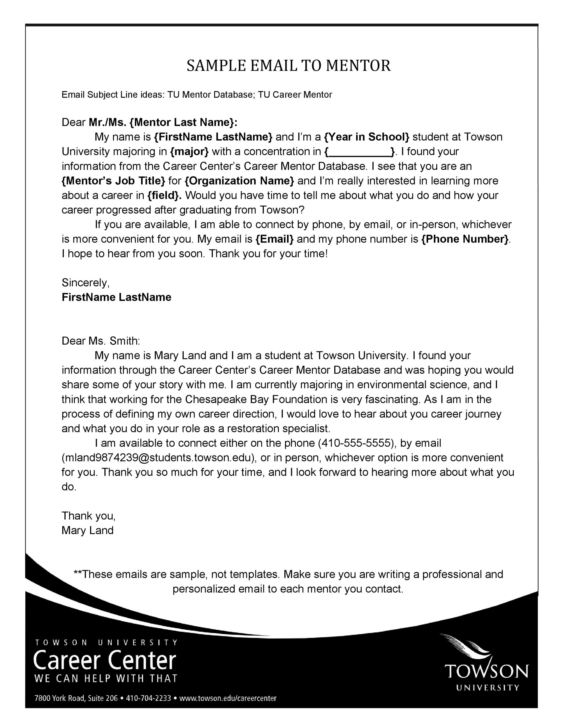 Free professional email example 22