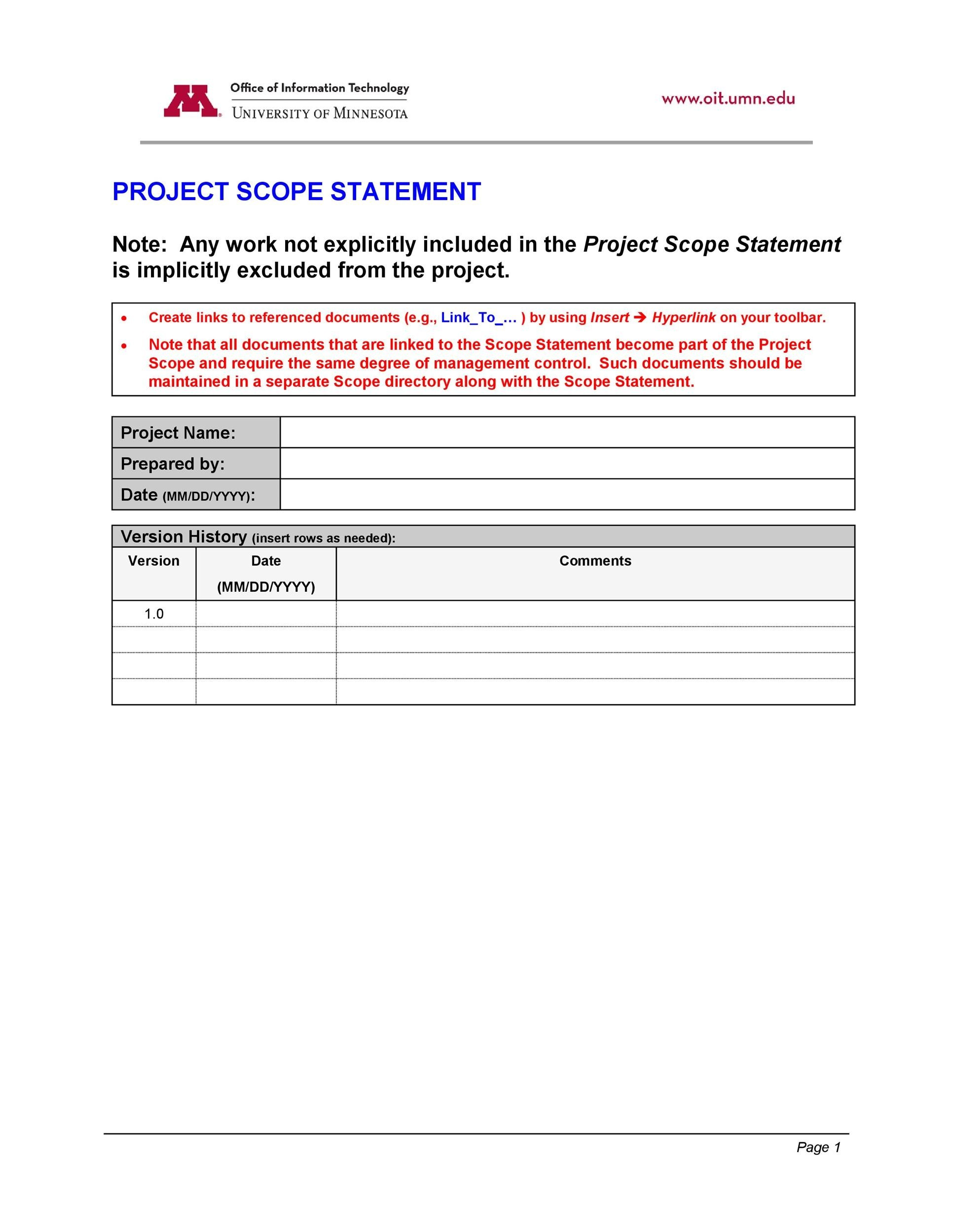 Free project scope example 05