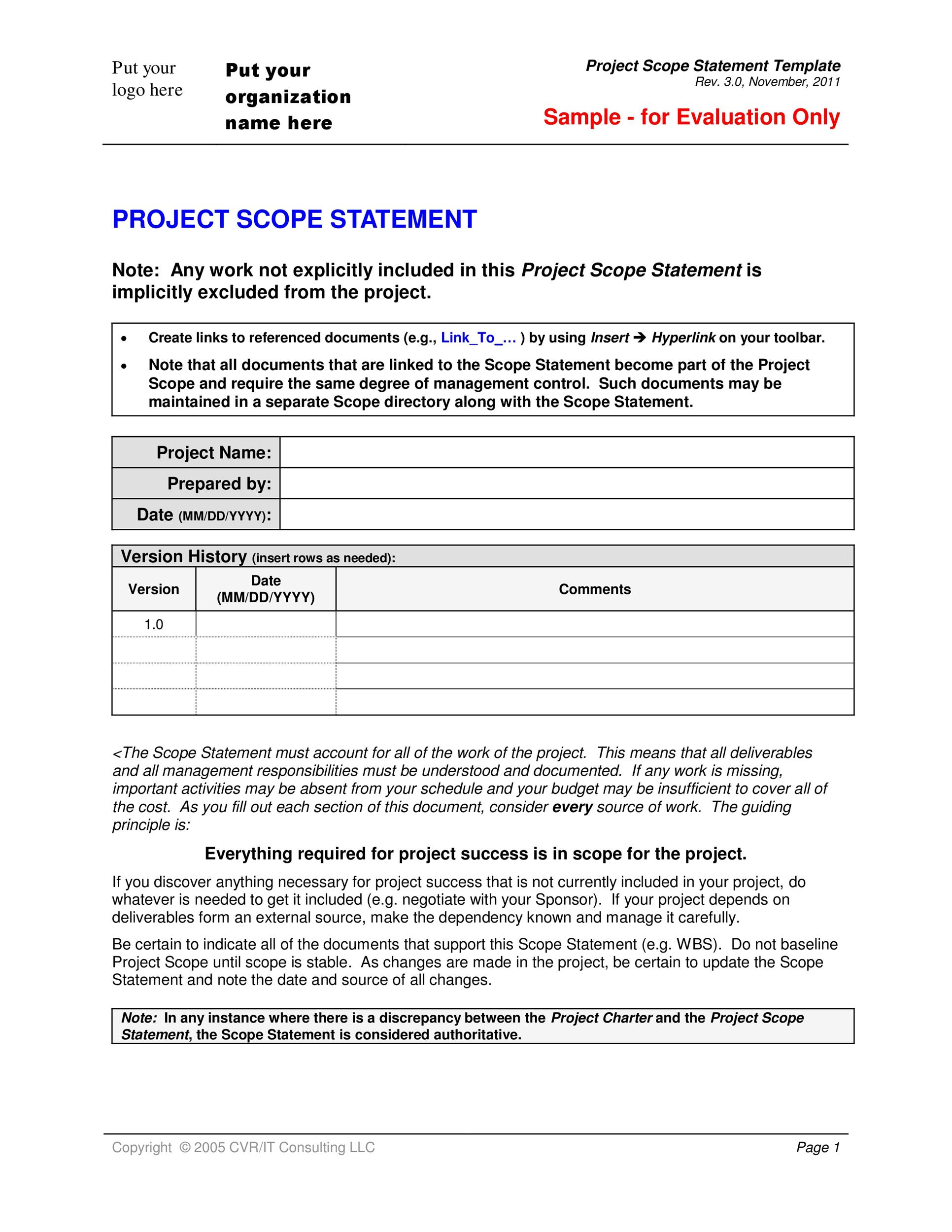 43 Project Scope Statement Templates & Examples - Template Lab